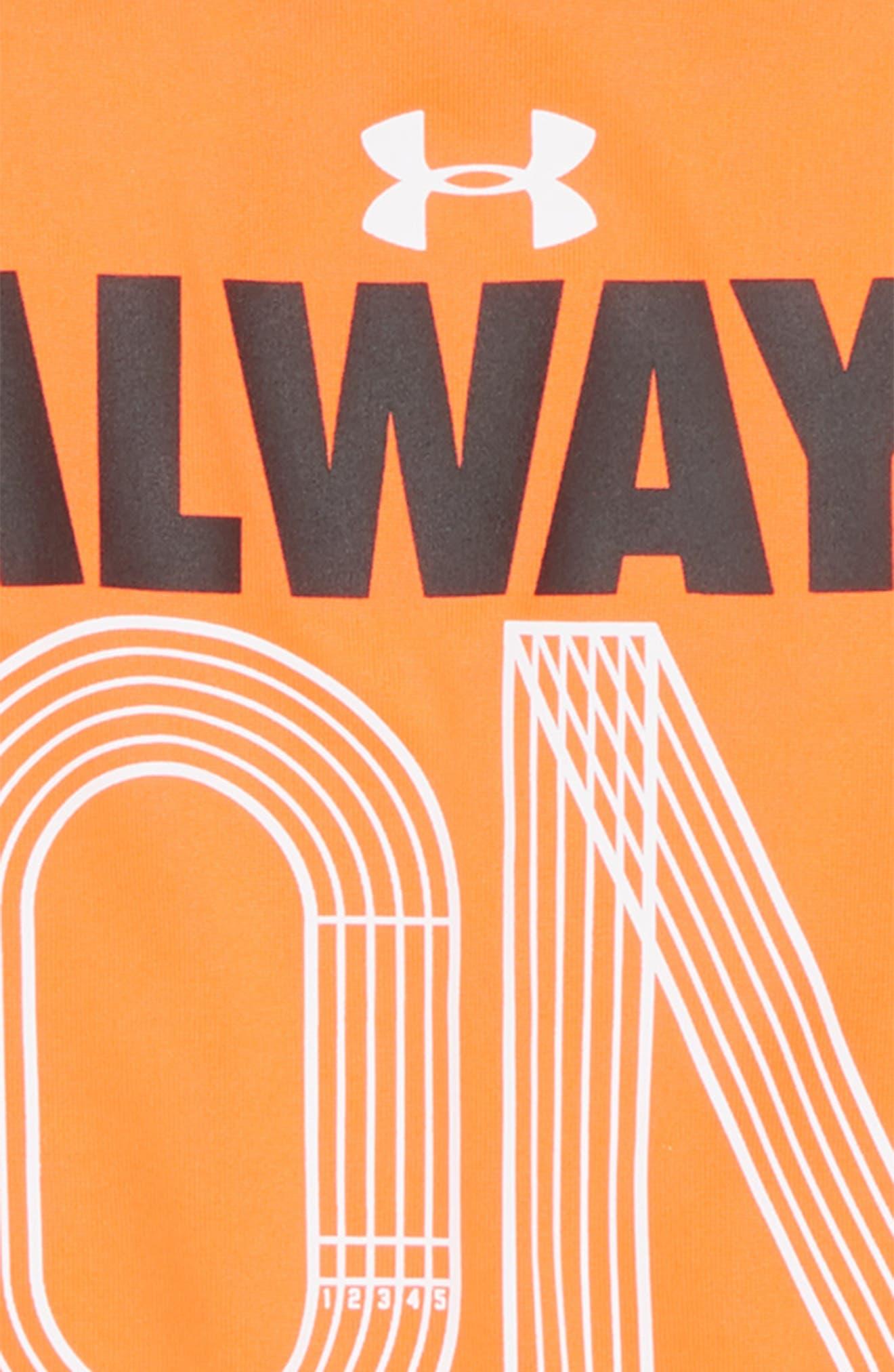 Always on Track HeatGear<sup>®</sup> Shirt,                             Alternate thumbnail 2, color,                             820