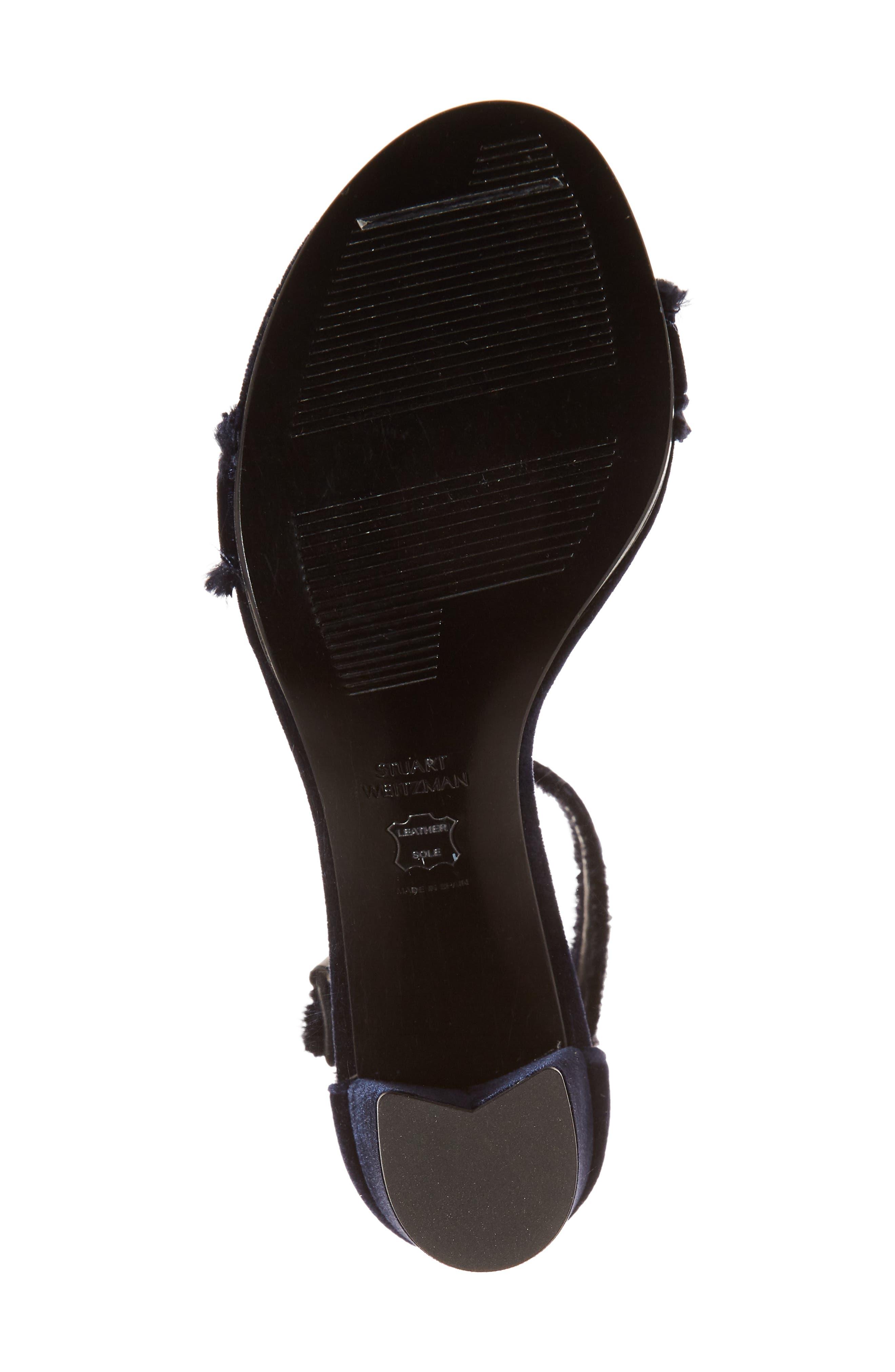 Frayed Ankle Strap Sandal,                             Alternate thumbnail 6, color,                             410