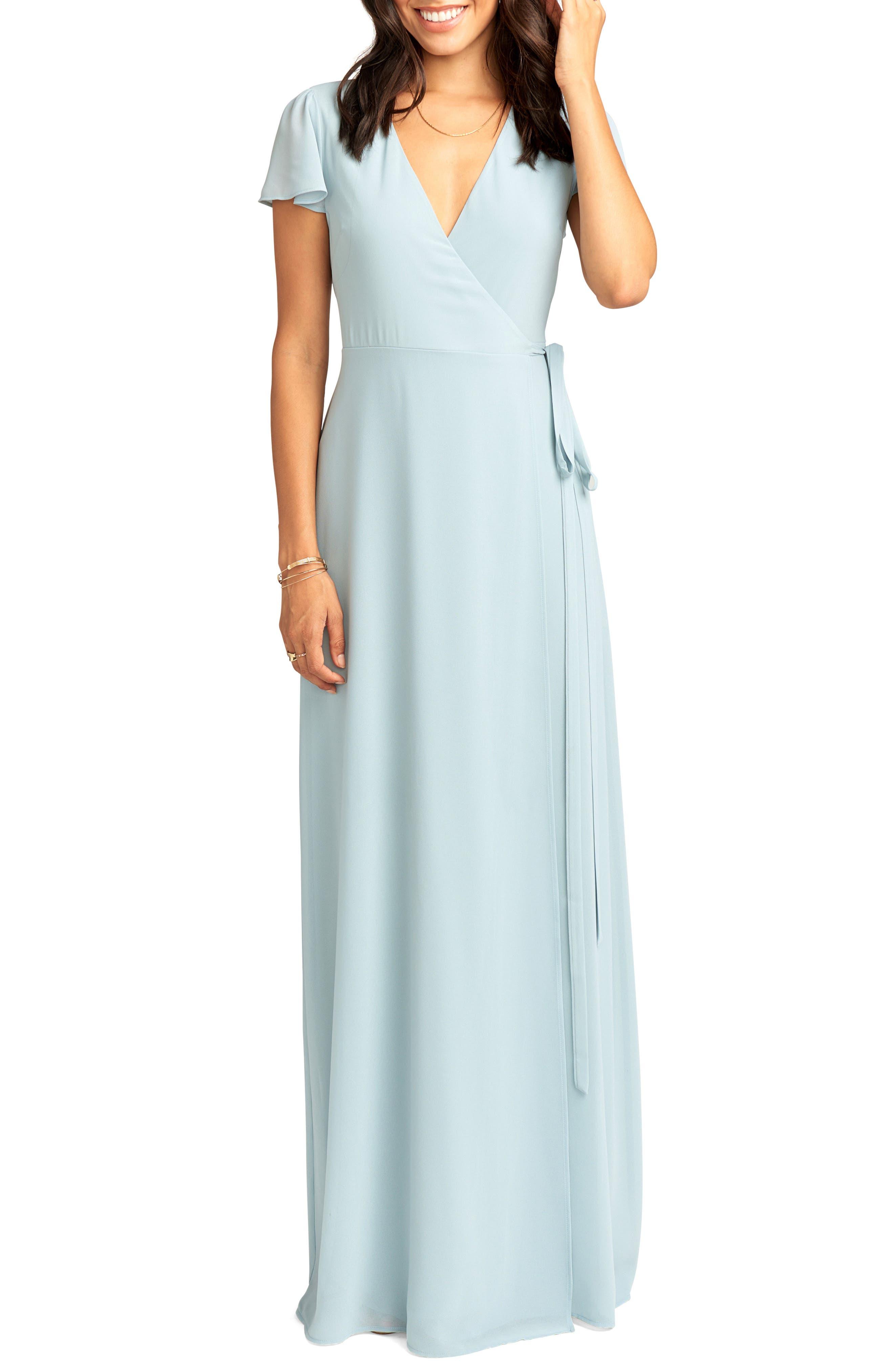 Show Me Your Mumu Noelle Wrap Dress, Blue
