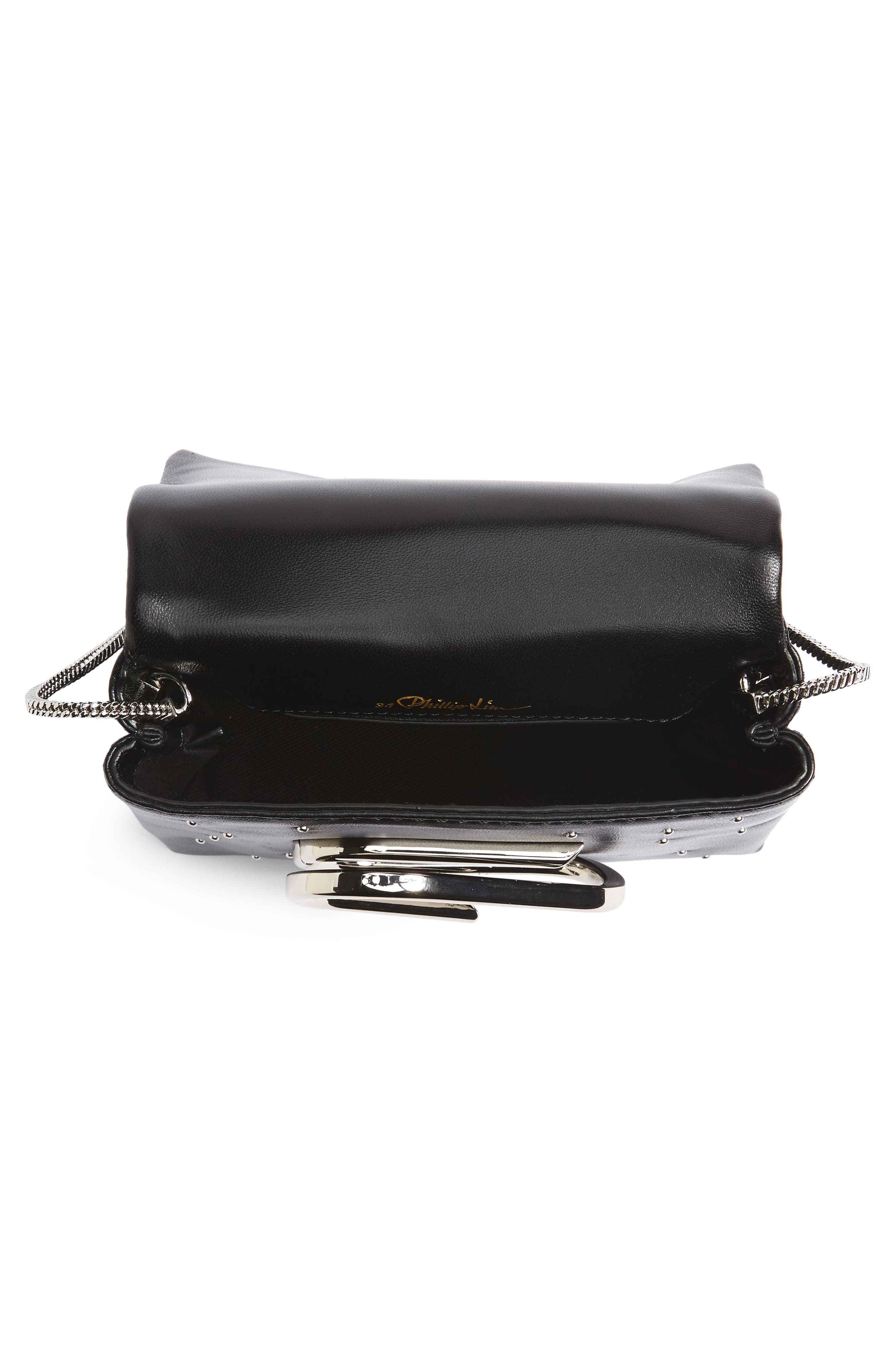 Micro Alix Leather Crossbody Bag,                             Alternate thumbnail 4, color,                             001