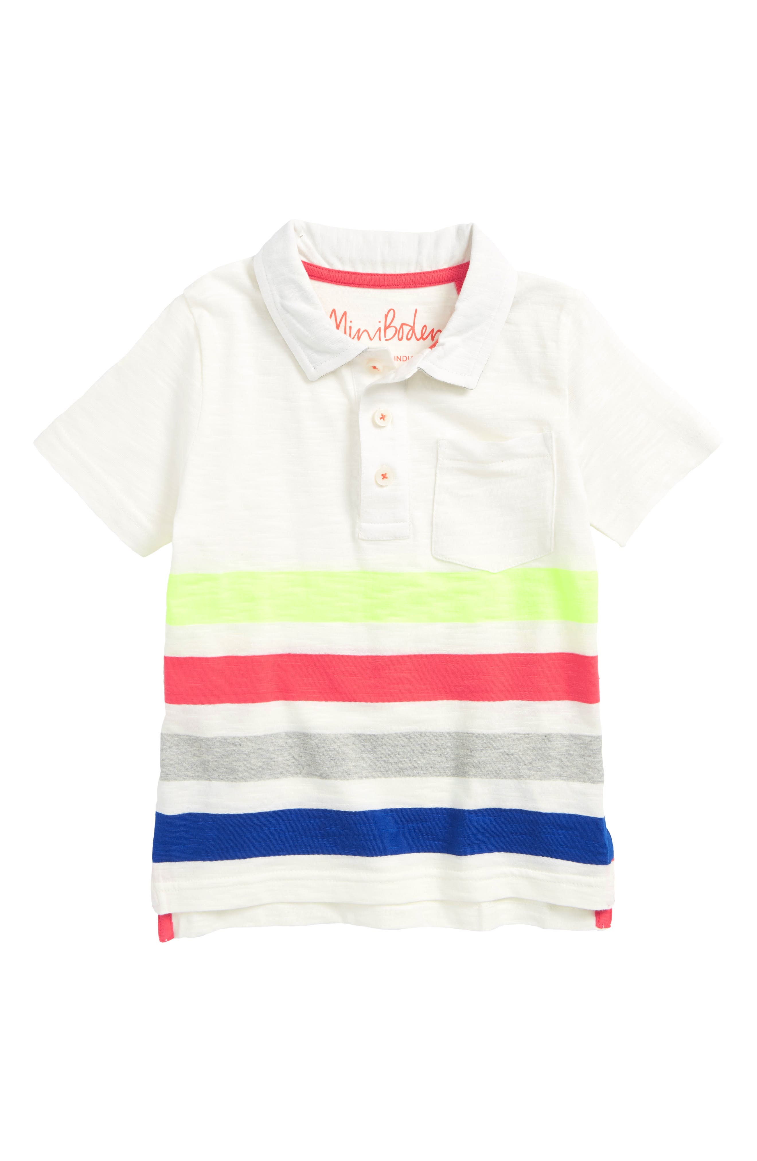 Rainbow Jersey Polo,                         Main,                         color, 900