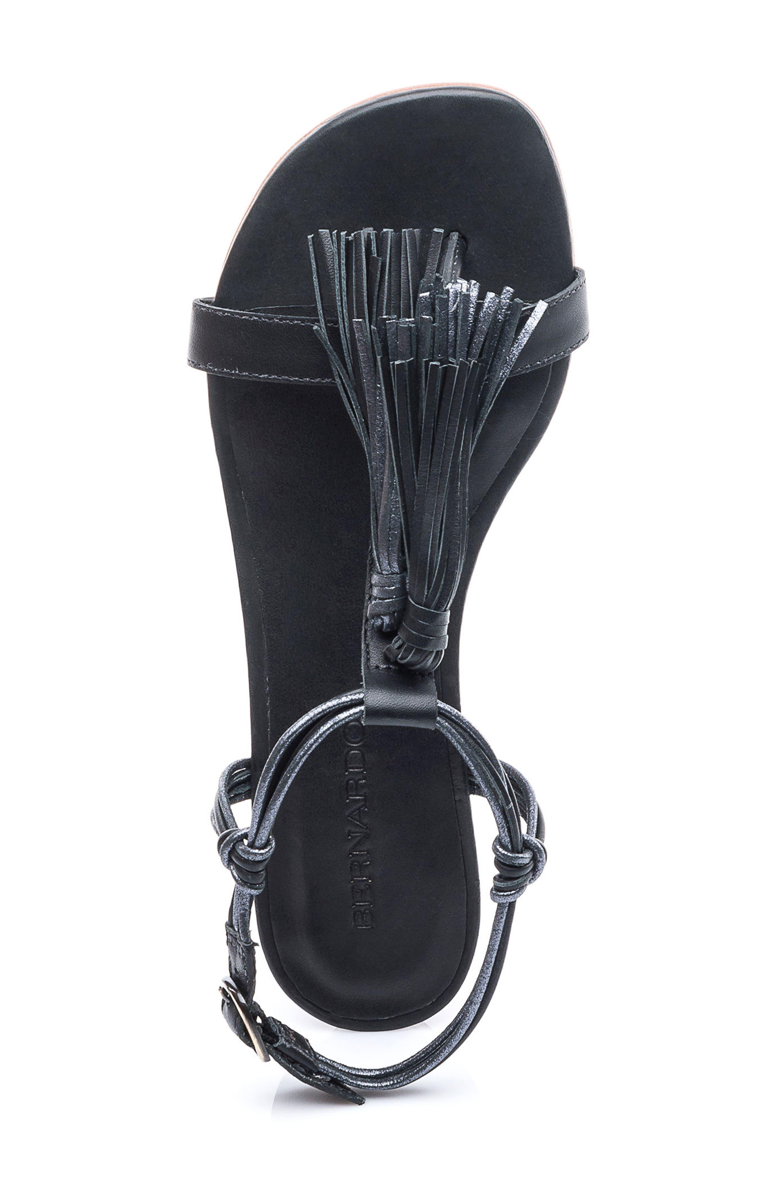 Footwear Court Fringe Leather Sandal,                             Alternate thumbnail 7, color,