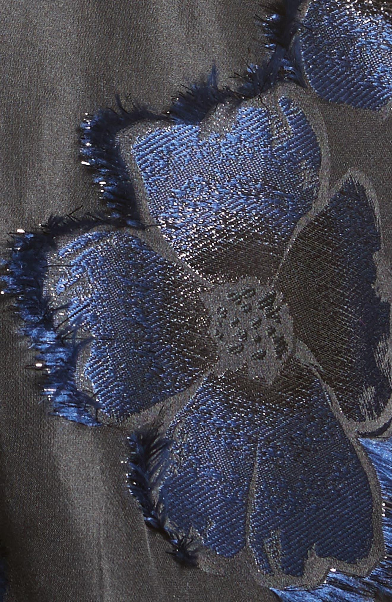 Metallic Floral Fil Coupé Top,                             Alternate thumbnail 6, color,                             410