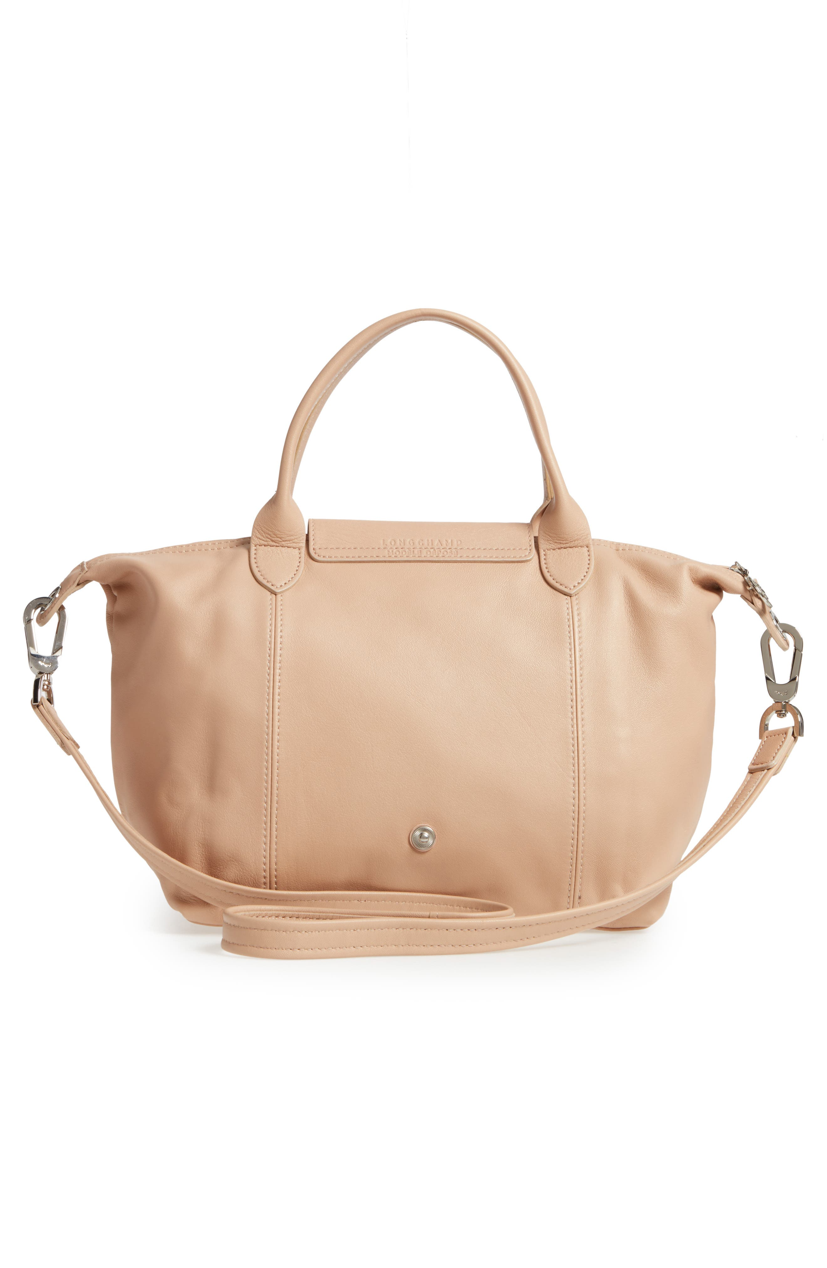 Small 'Le Pliage Cuir' Leather Top Handle Tote,                             Alternate thumbnail 44, color,