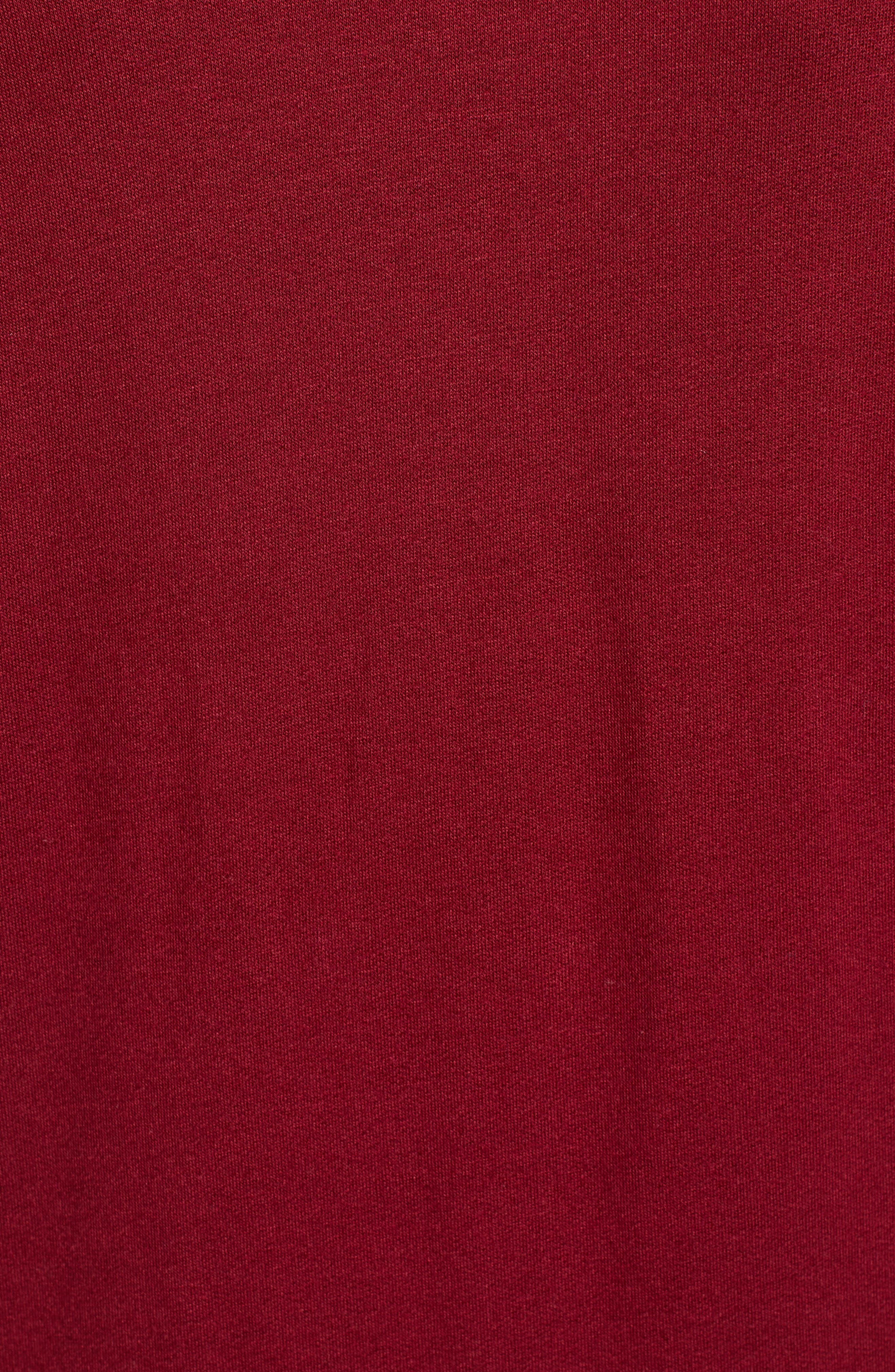 High/Low Tunic,                             Alternate thumbnail 6, color,                             MAROON