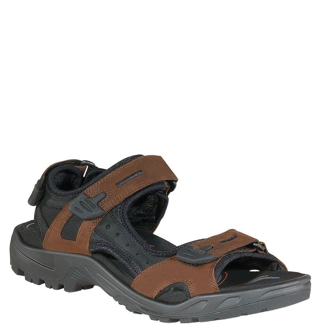 'Yucatan' Sandal,                             Main thumbnail 1, color,                             BROWN/BLACK
