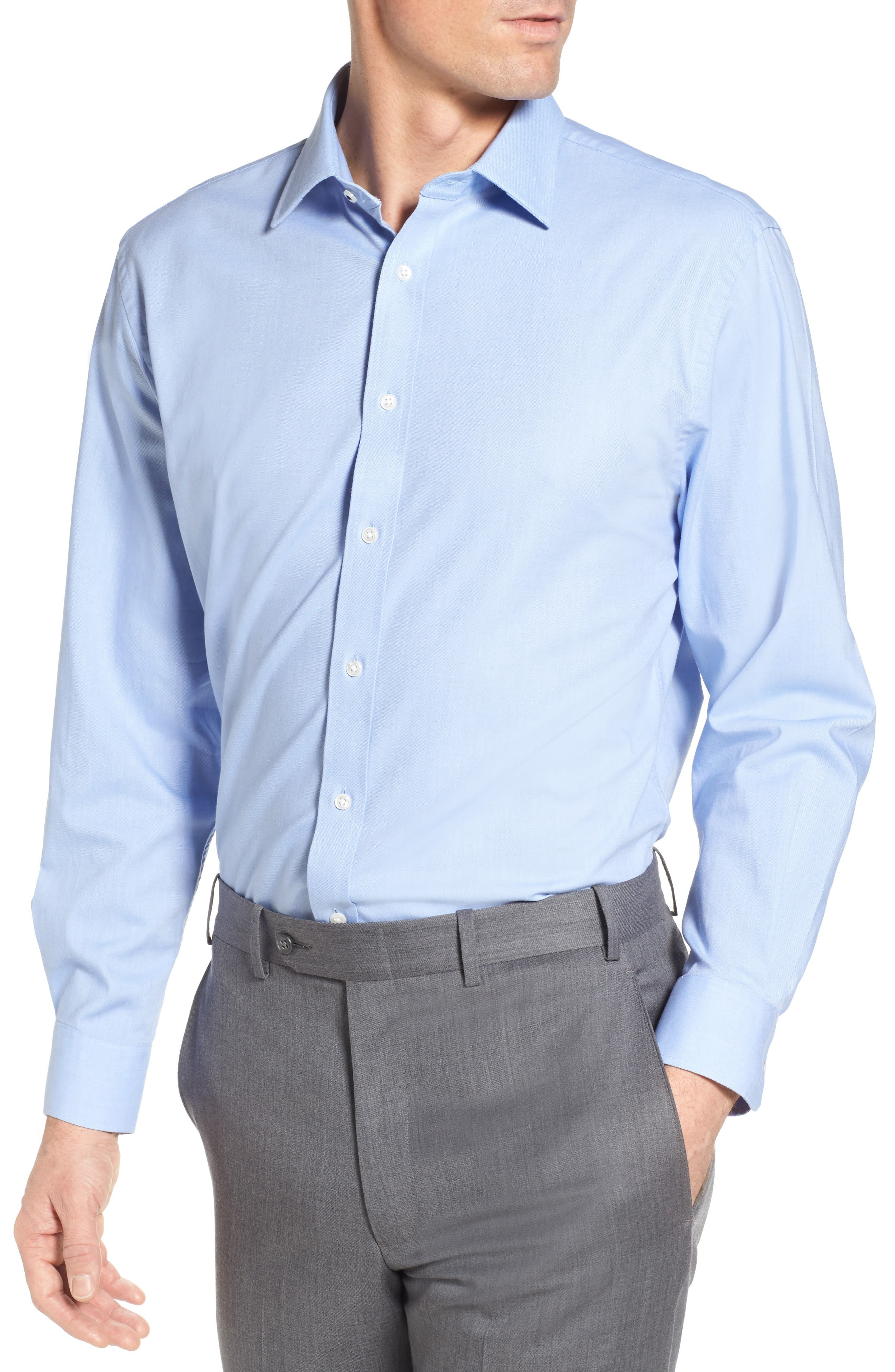 Tech-Smart Traditional Fit Stretch Solid Dress Shirt,                             Main thumbnail 2, color,