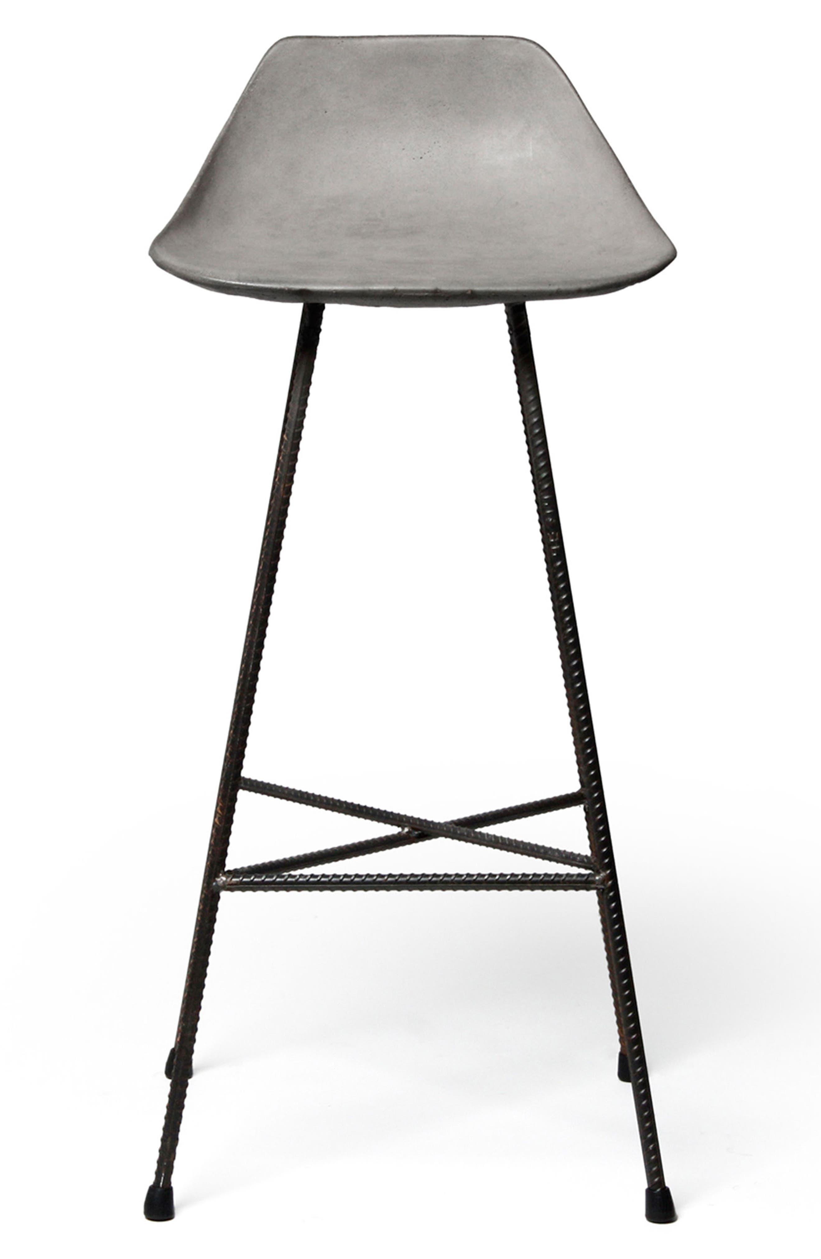 Lyon Béton Hauteville Bar Chair,                             Main thumbnail 1, color,                             CEMENT