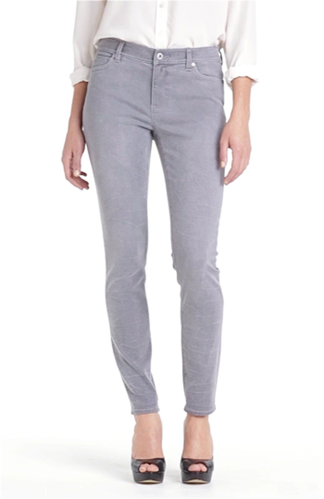 Sand Washed Skinny Jeans,                             Alternate thumbnail 6, color,                             085