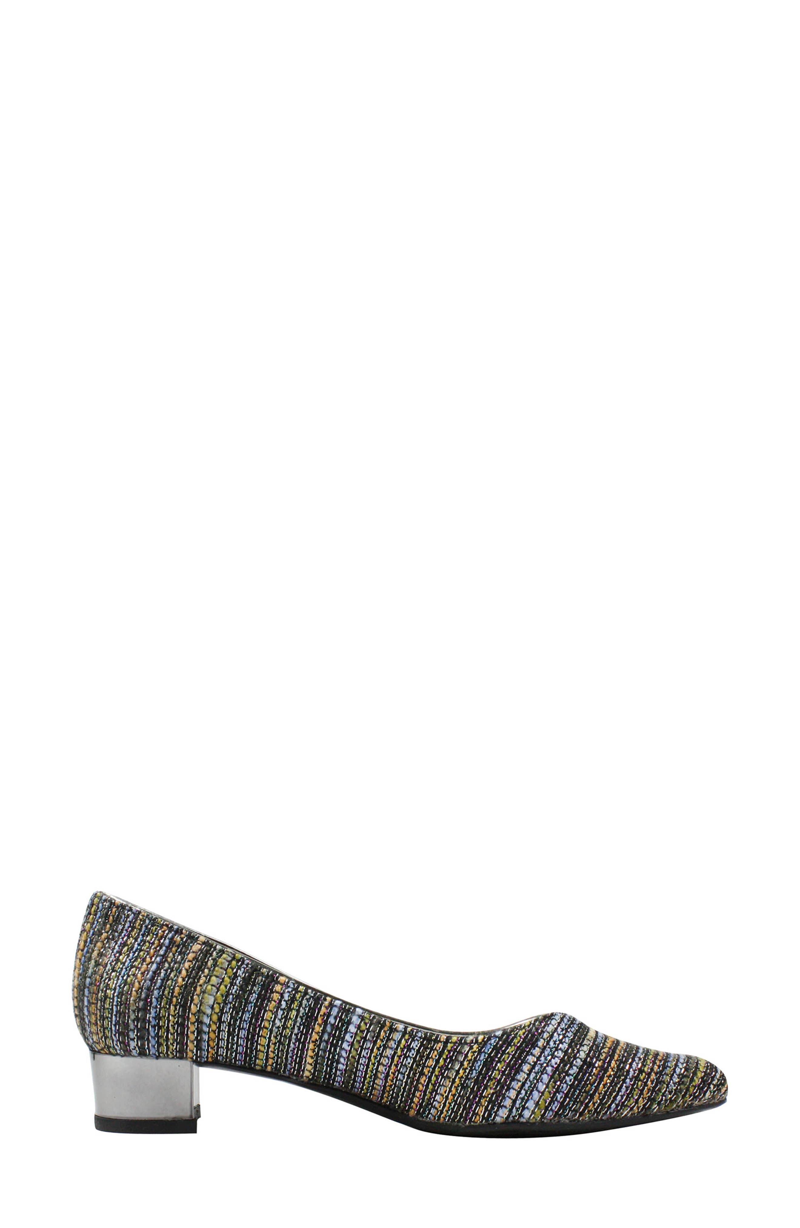 'Bambalina' Block Heel Glitter Pump,                             Alternate thumbnail 7, color,