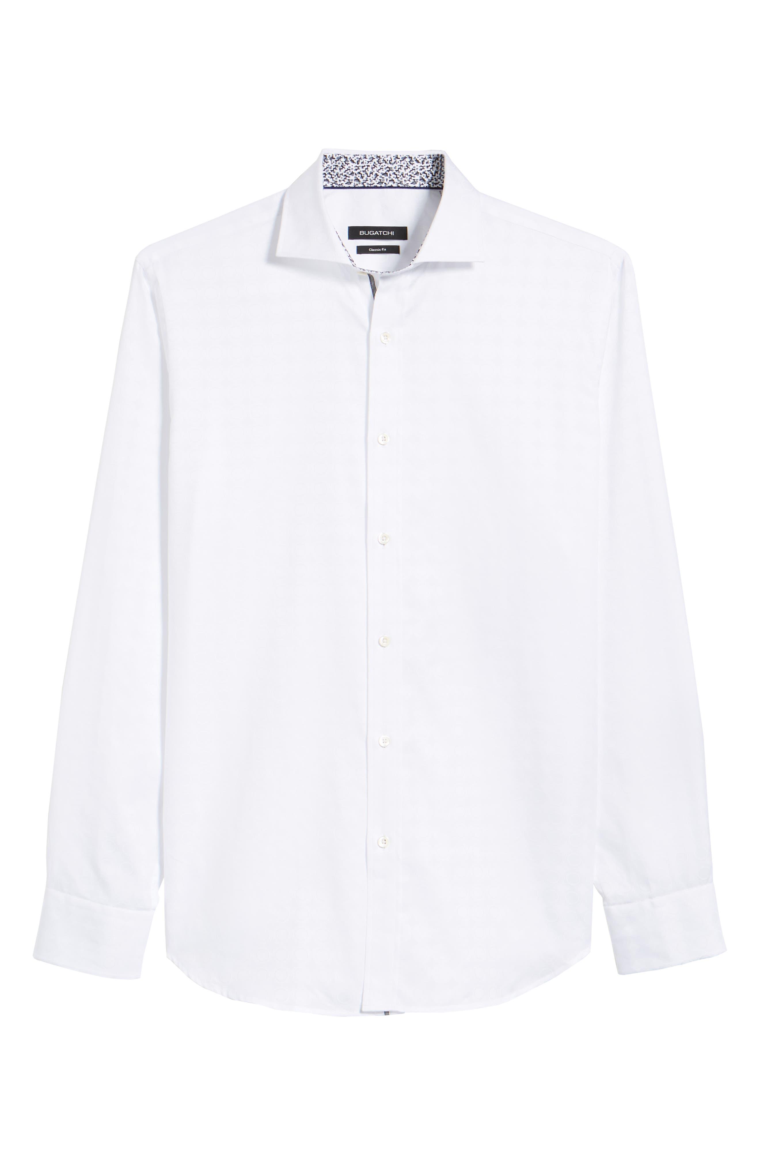 Classic Fit Tonal Circles Sport Shirt,                             Alternate thumbnail 6, color,                             100