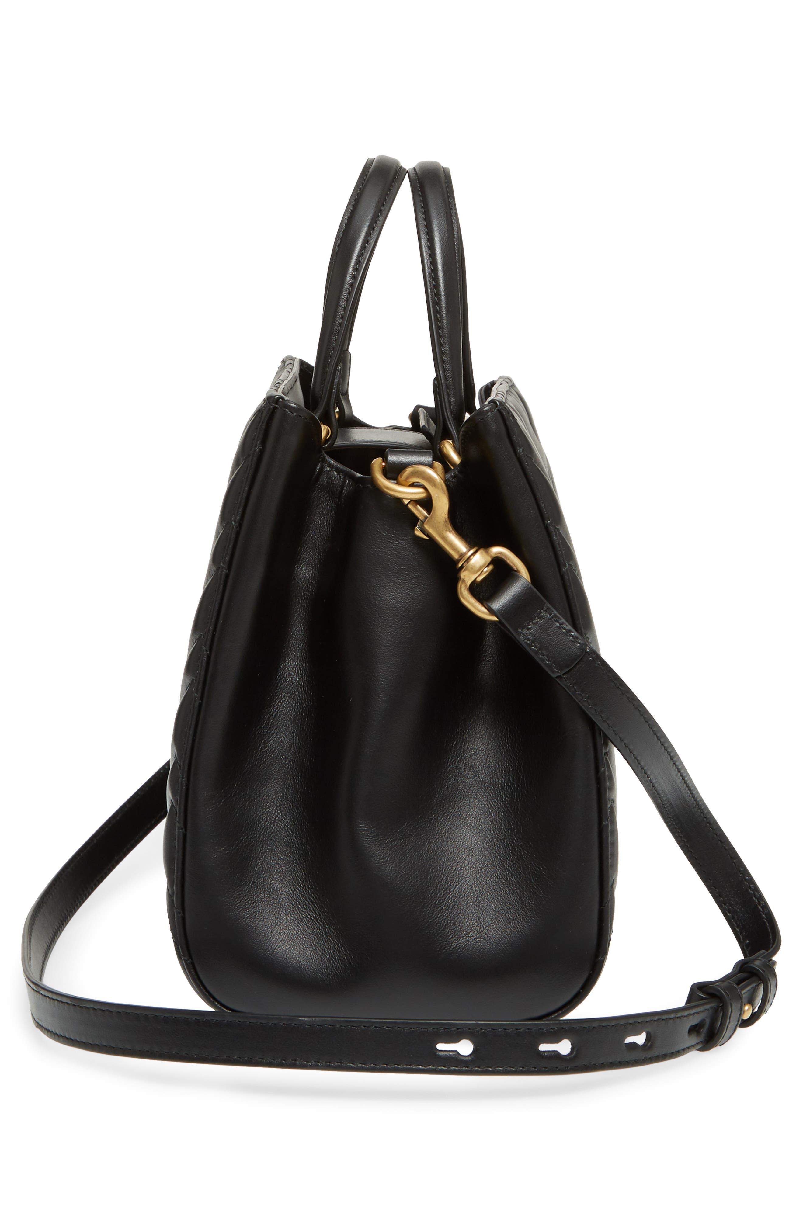 GG Small Marmont 2.0 Matelassé Leather Top Handle Satchel,                             Alternate thumbnail 6, color,                             005