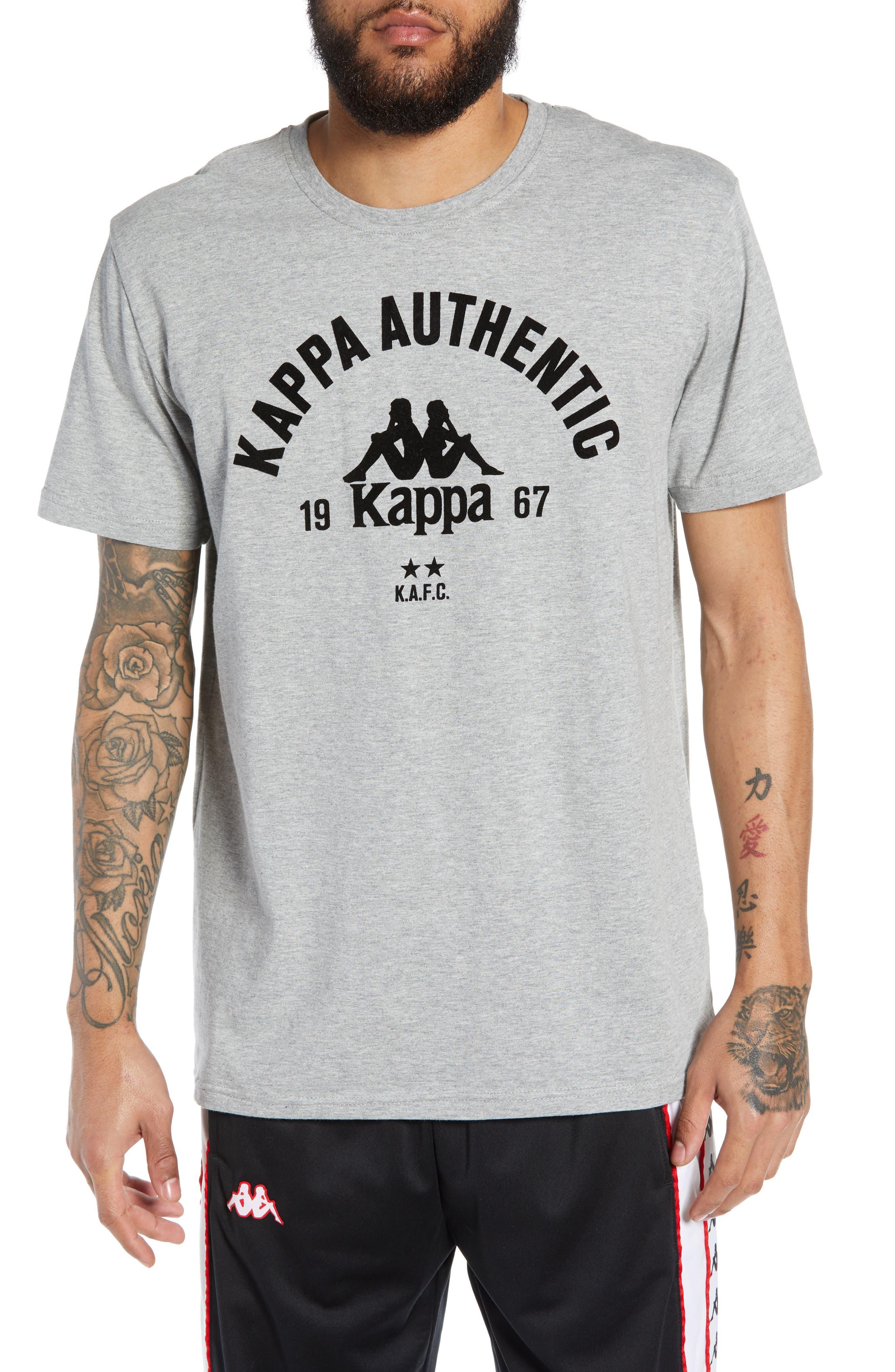 Kappa Active Authentic Bzalaya Logo T-Shirt, Grey