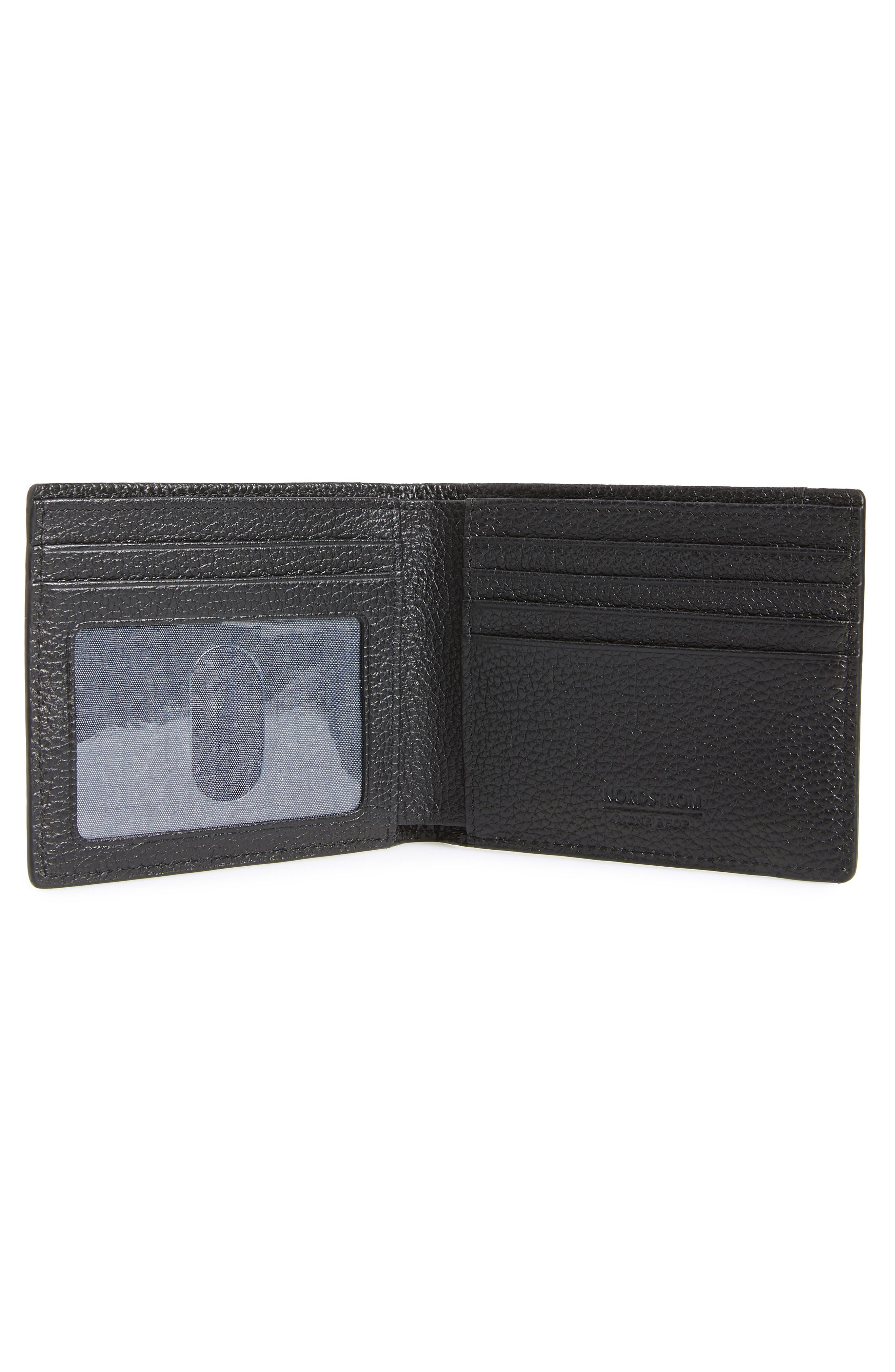 Midland RFID Leather Wallet,                             Alternate thumbnail 2, color,                             BLACK