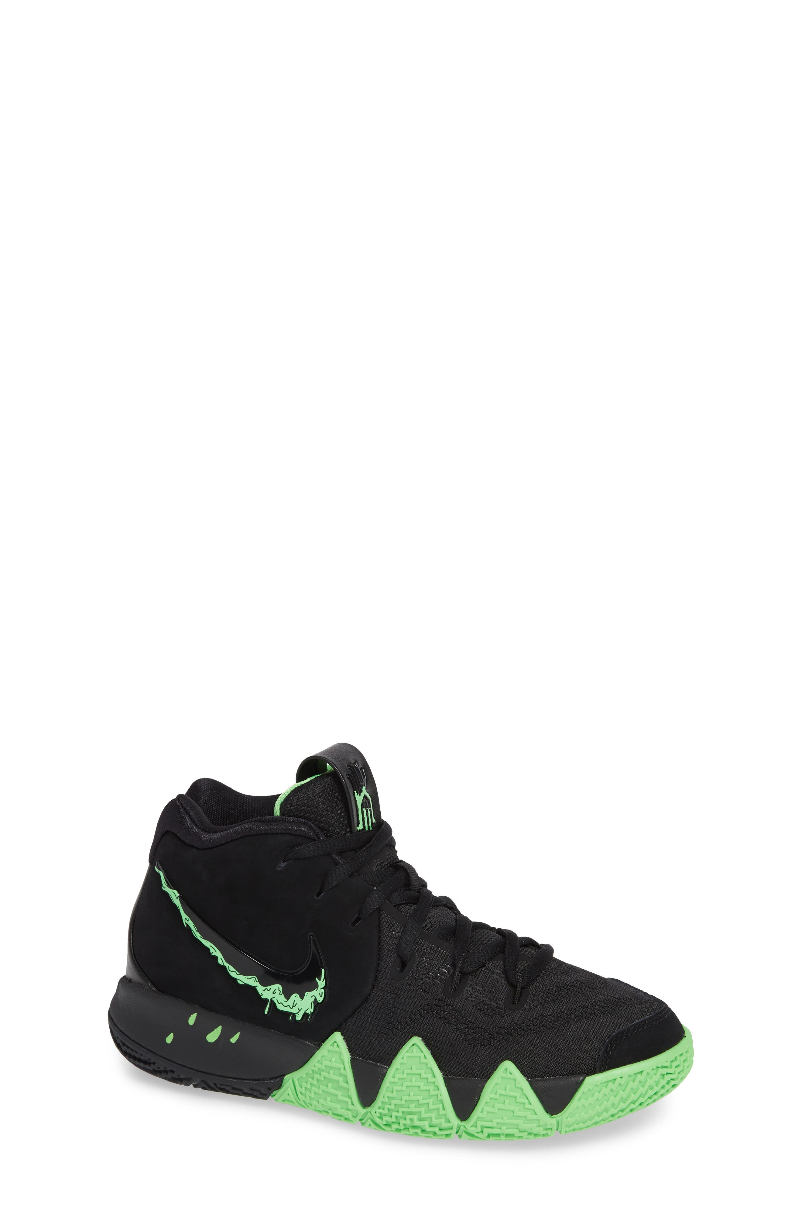 Kyrie 4 Basketball Shoe,                             Main thumbnail 1, color,                             BLACK/ RAGE GREEN