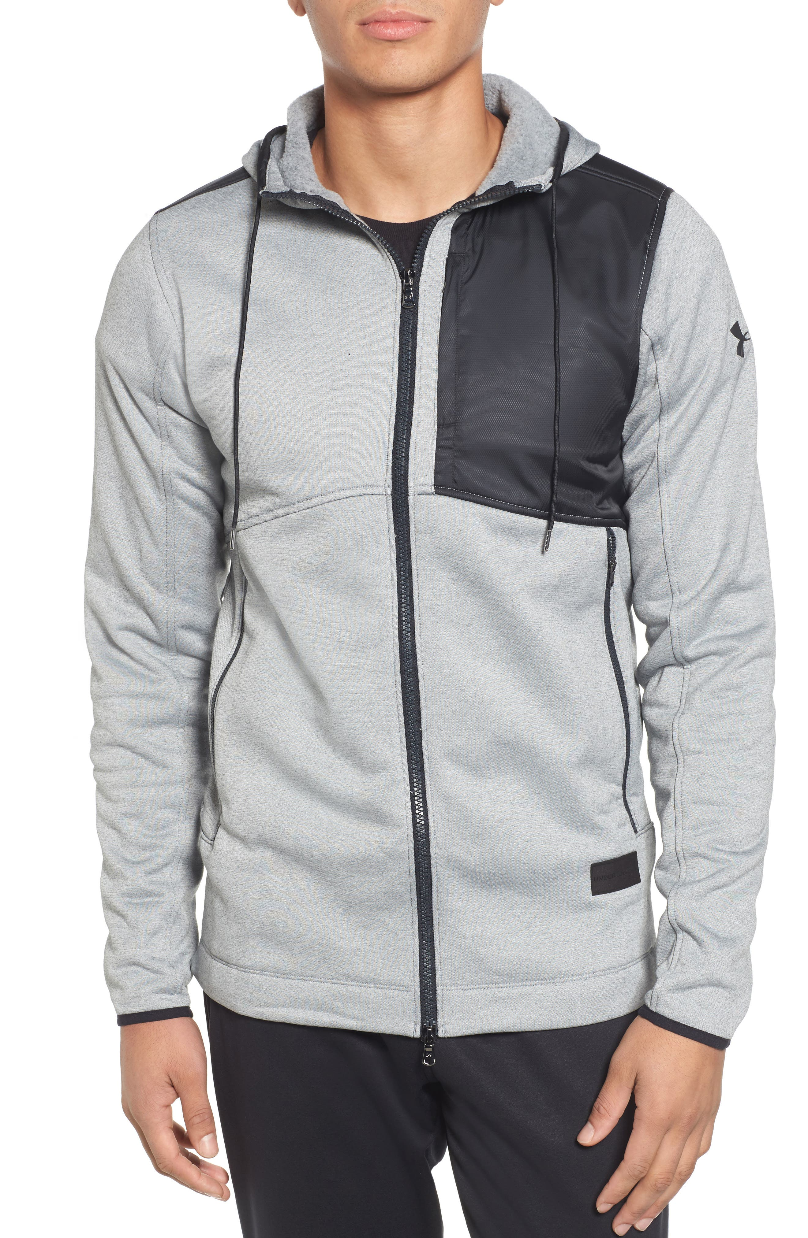 Courtside Stealth Zip Hoodie,                             Main thumbnail 2, color,
