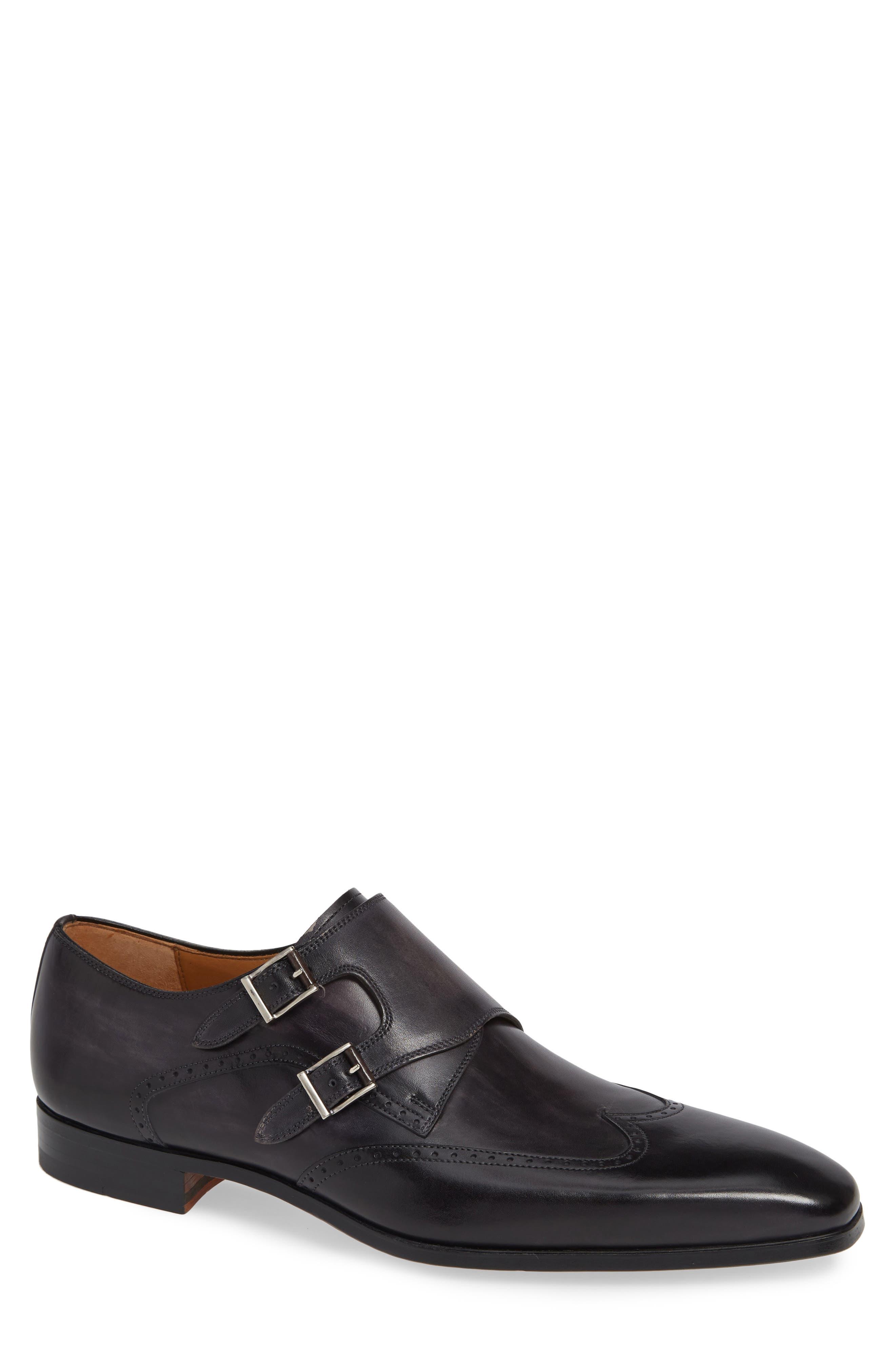 Dixon Wingtip Double Strap Monk Shoe,                             Main thumbnail 1, color,                             GREY