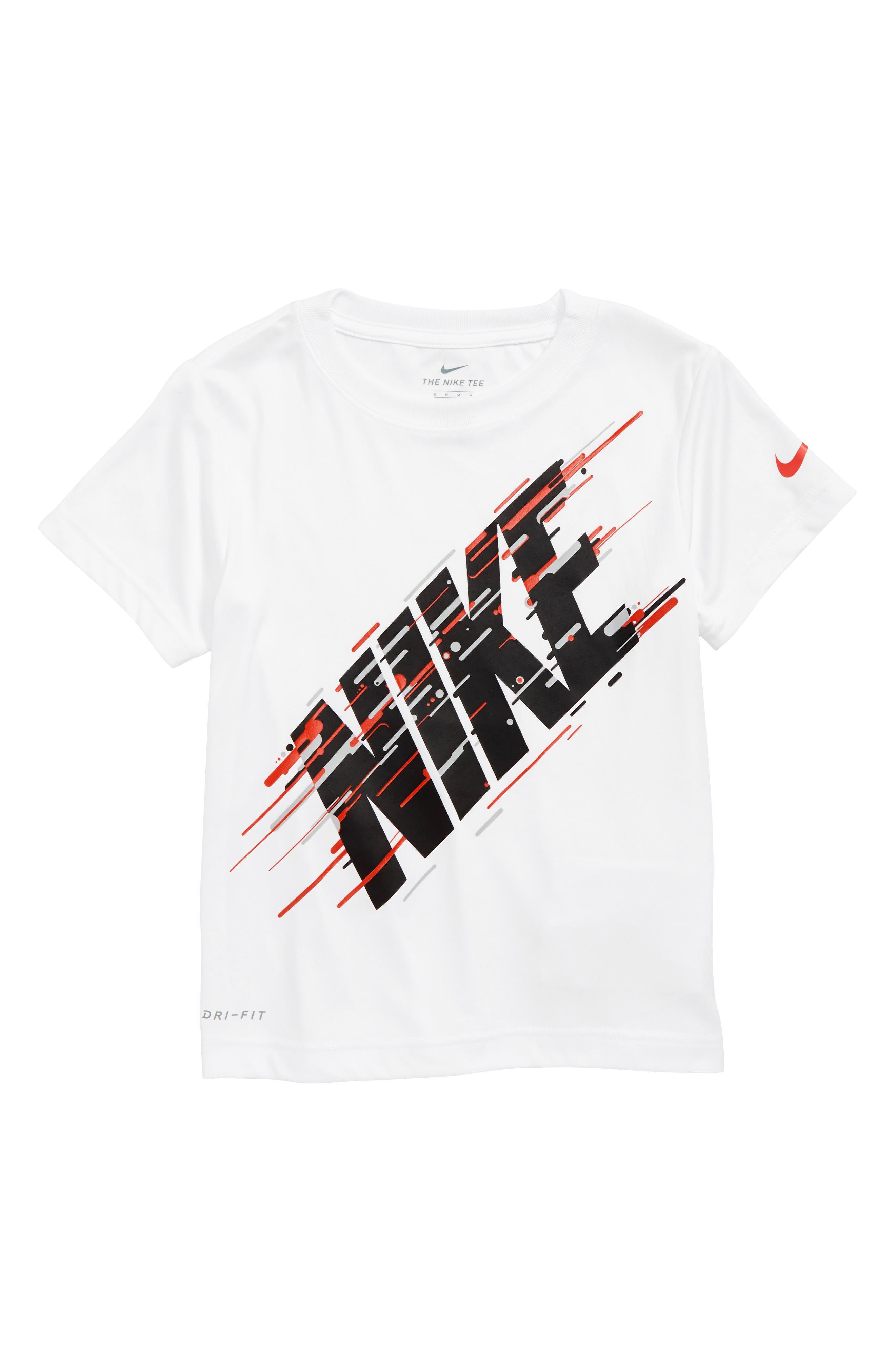 NIKE,                             Motion Logo Graphic T-Shirt,                             Main thumbnail 1, color,                             100