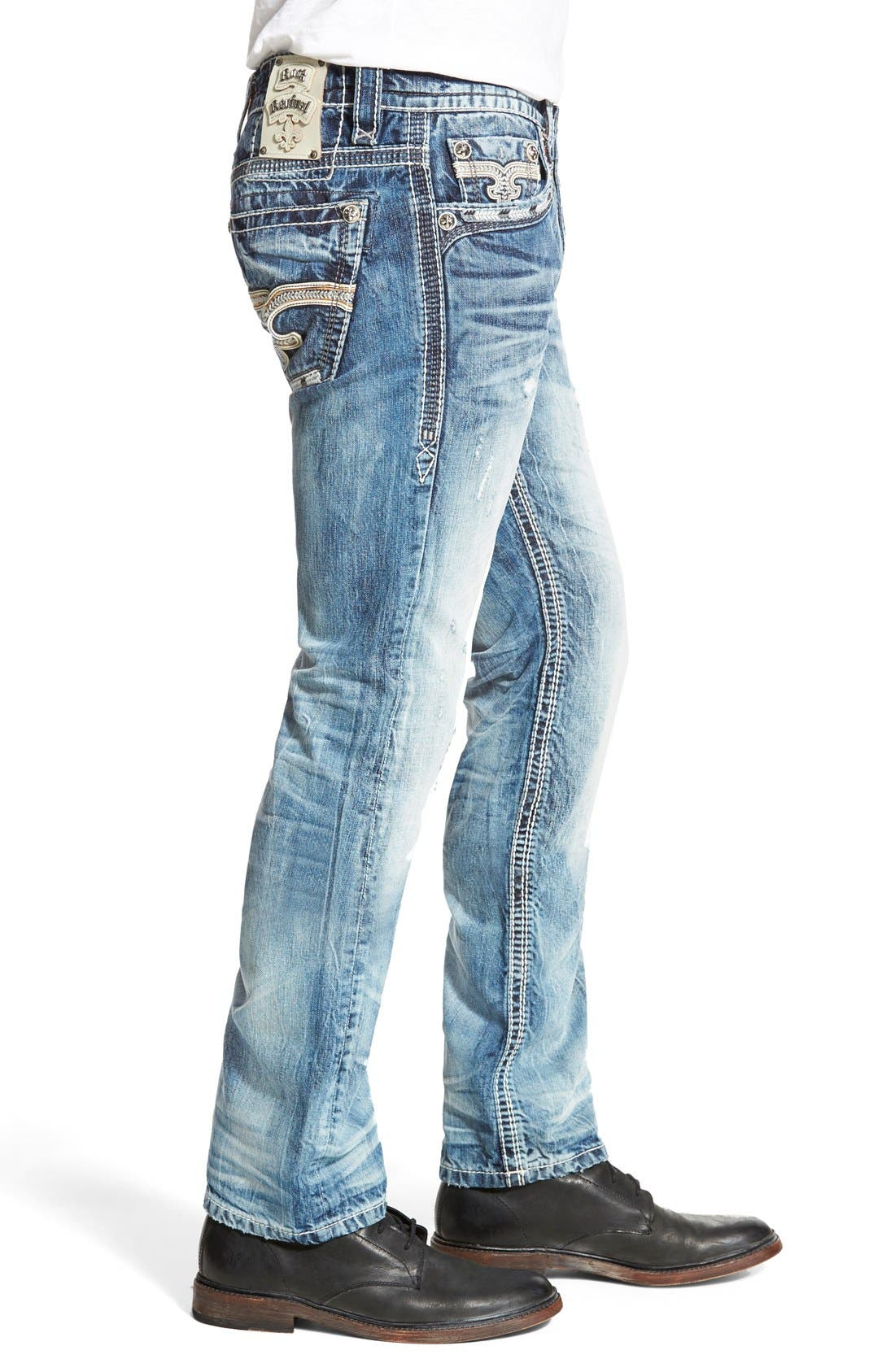 ROCK REVIVAL,                             'Emmet' Straight Leg Jeans,                             Alternate thumbnail 3, color,                             431