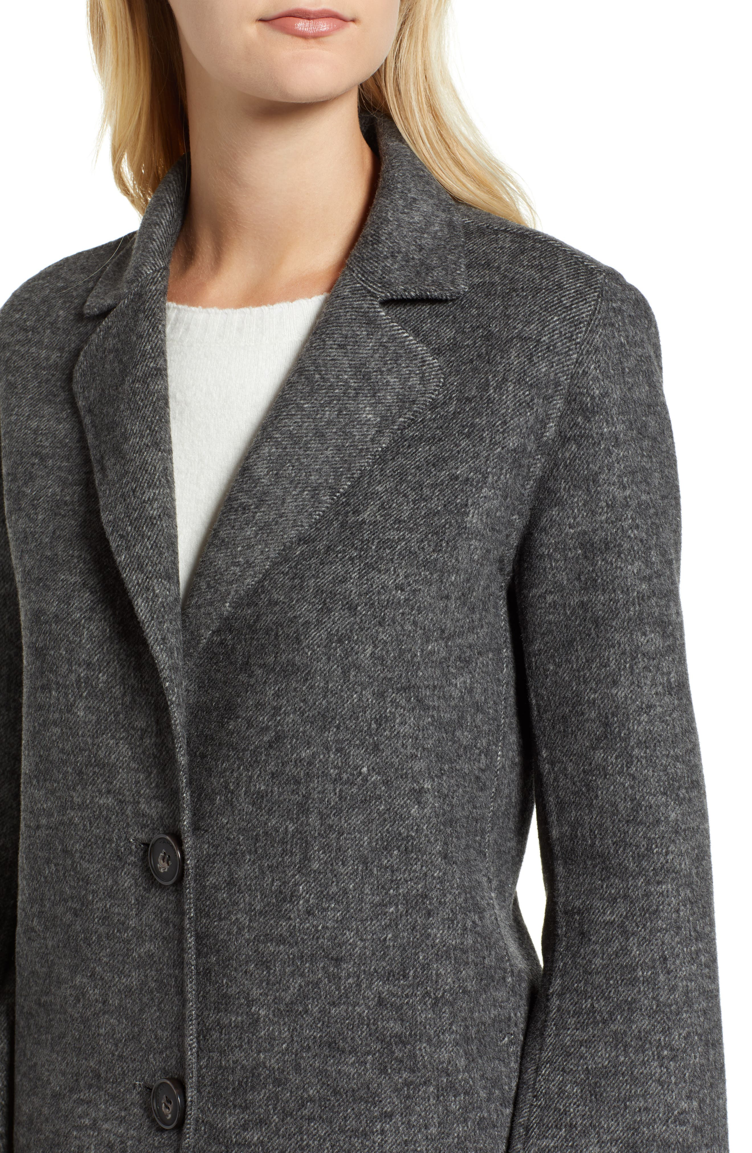 Jayden Bell Sleeve Jacket,                             Alternate thumbnail 4, color,                             GREY TWILL