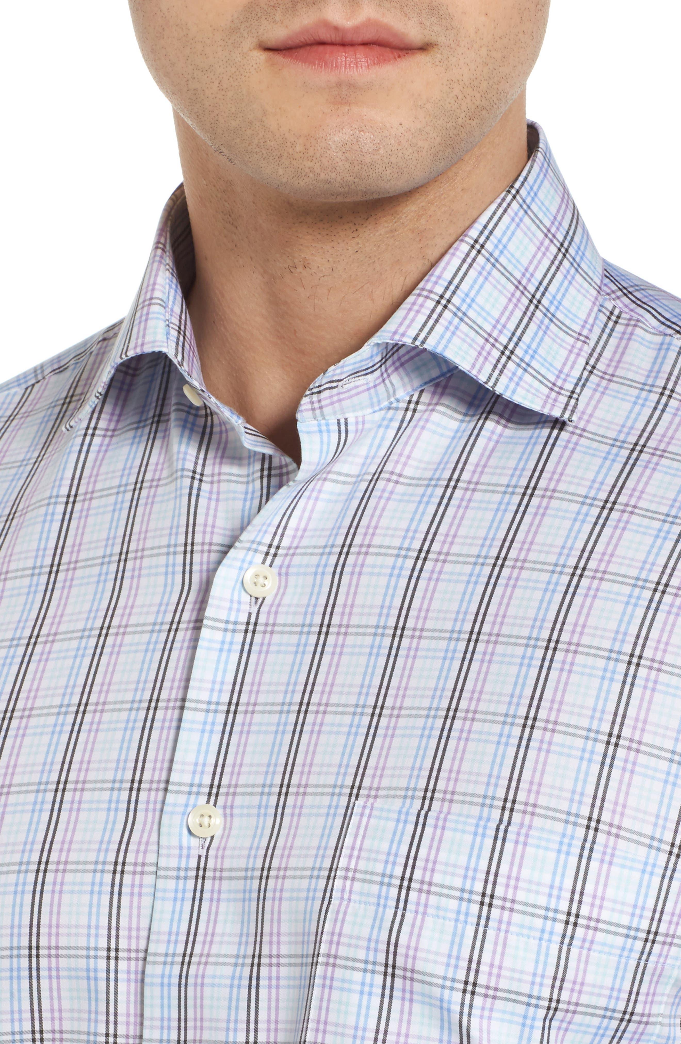 Crown Soft Daybreak Regular Fit Check Sport Shirt,                             Alternate thumbnail 4, color,                             422