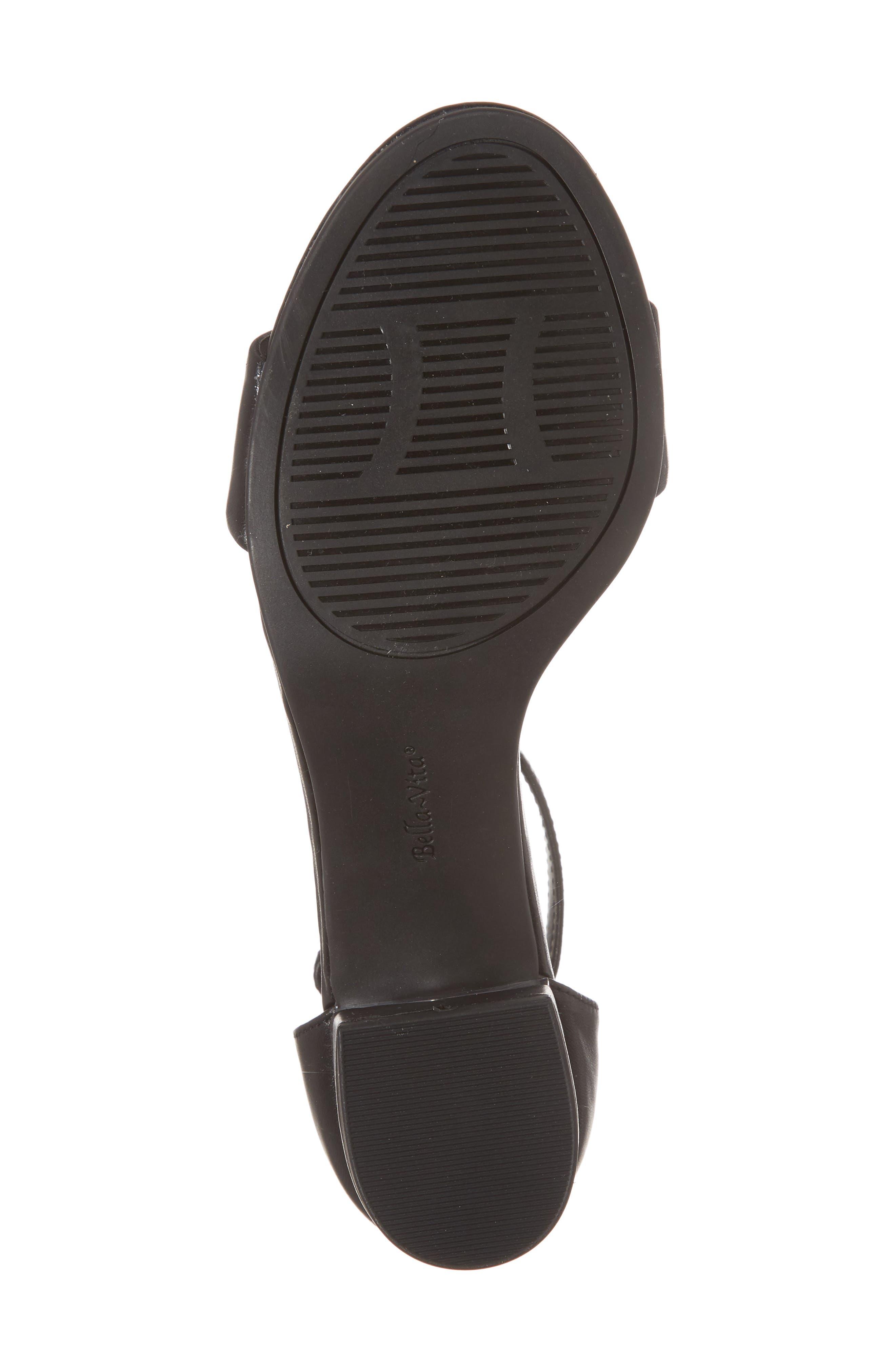 Fitz Block Heel Sandal,                             Alternate thumbnail 6, color,                             BLACK LEATHER