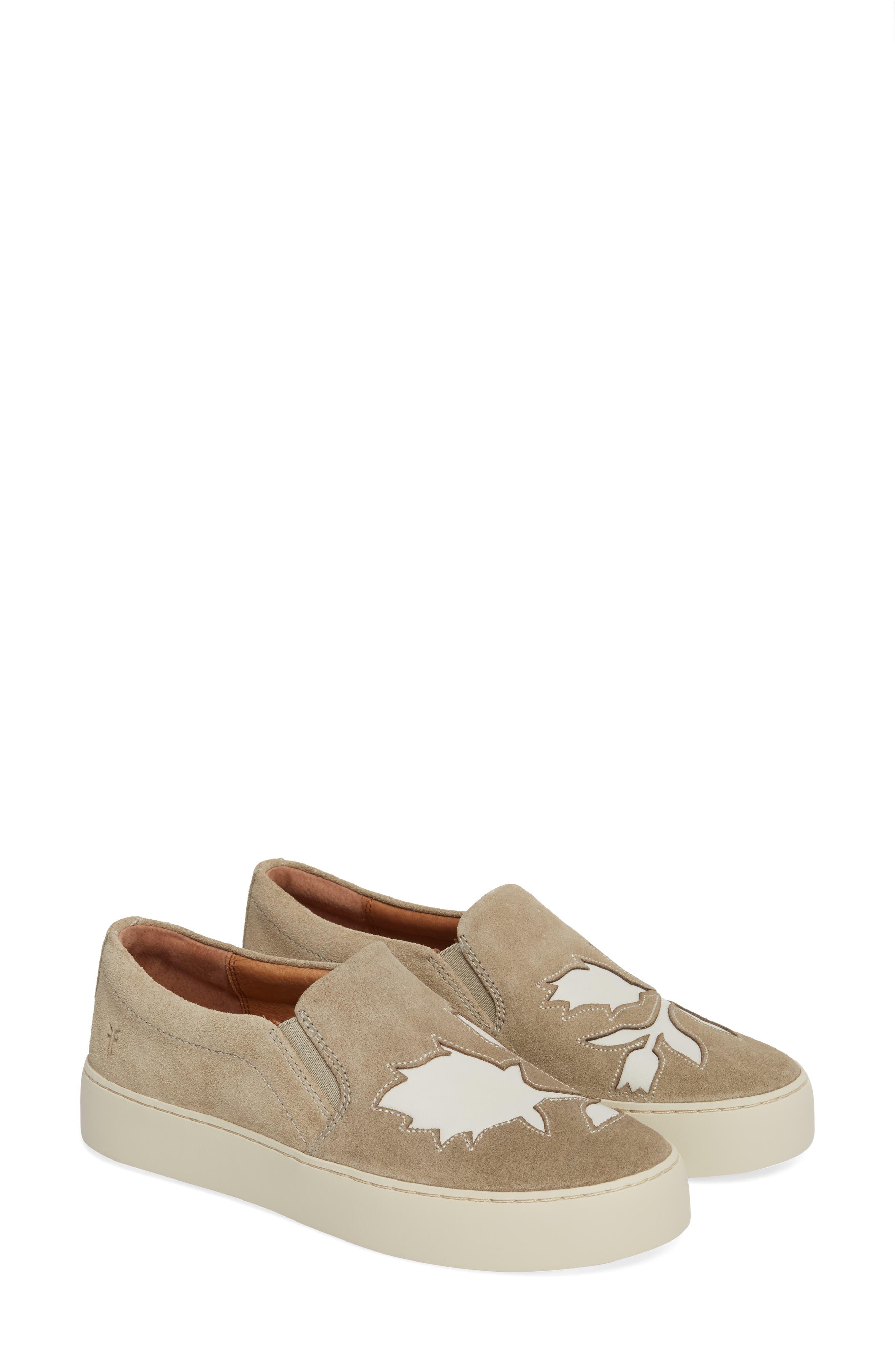 Lena Floral Slip-On Sneaker,                             Alternate thumbnail 4, color,