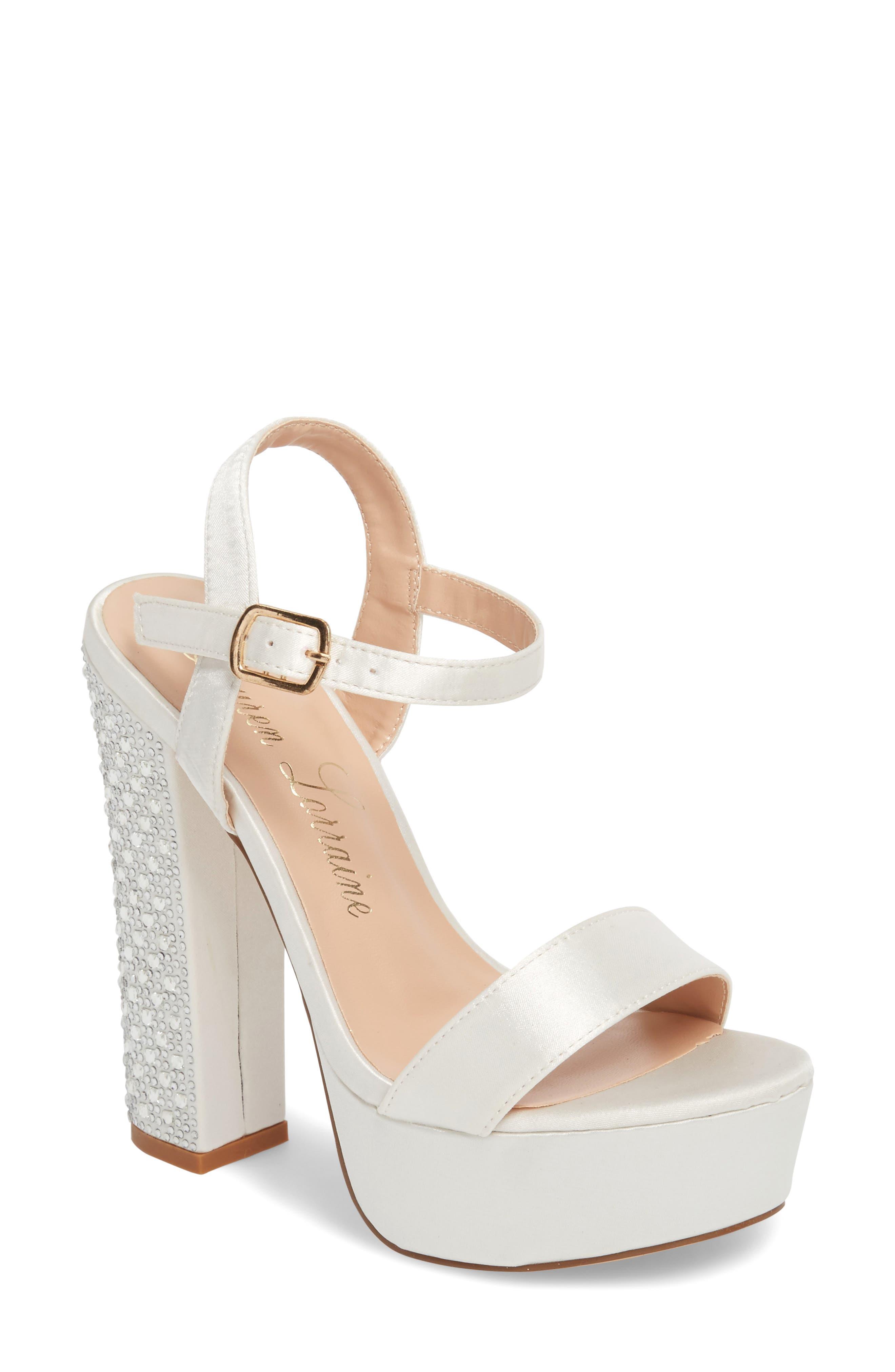 Lauren Lorraine Carly Platform Sandal- Ivory