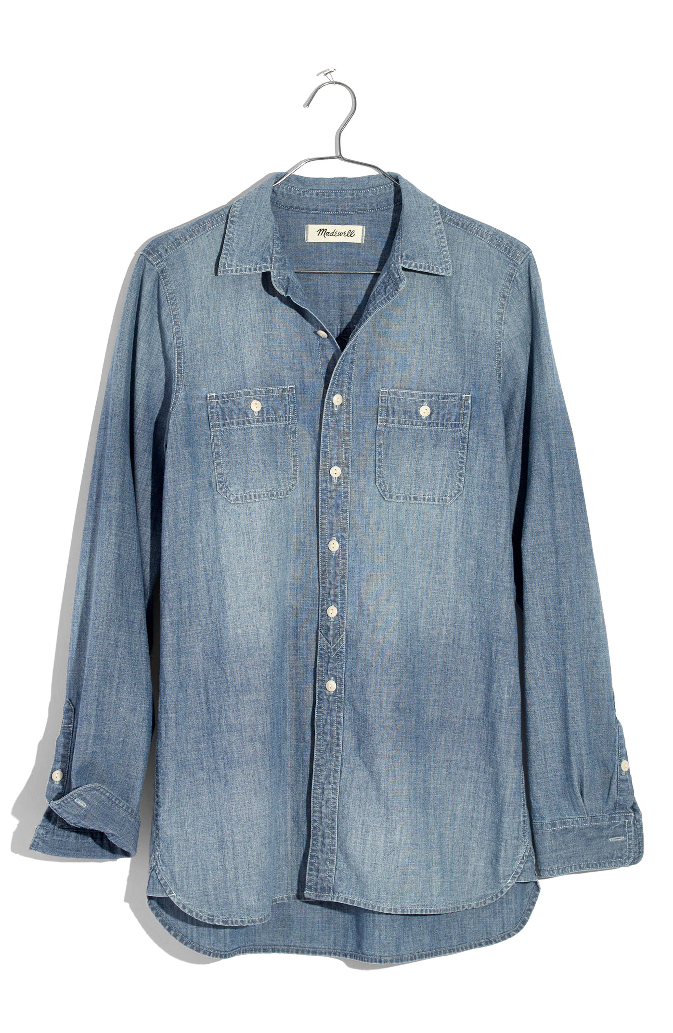 Classic Ex-Boyfriend Chambray Shirt,                             Alternate thumbnail 3, color,                             400