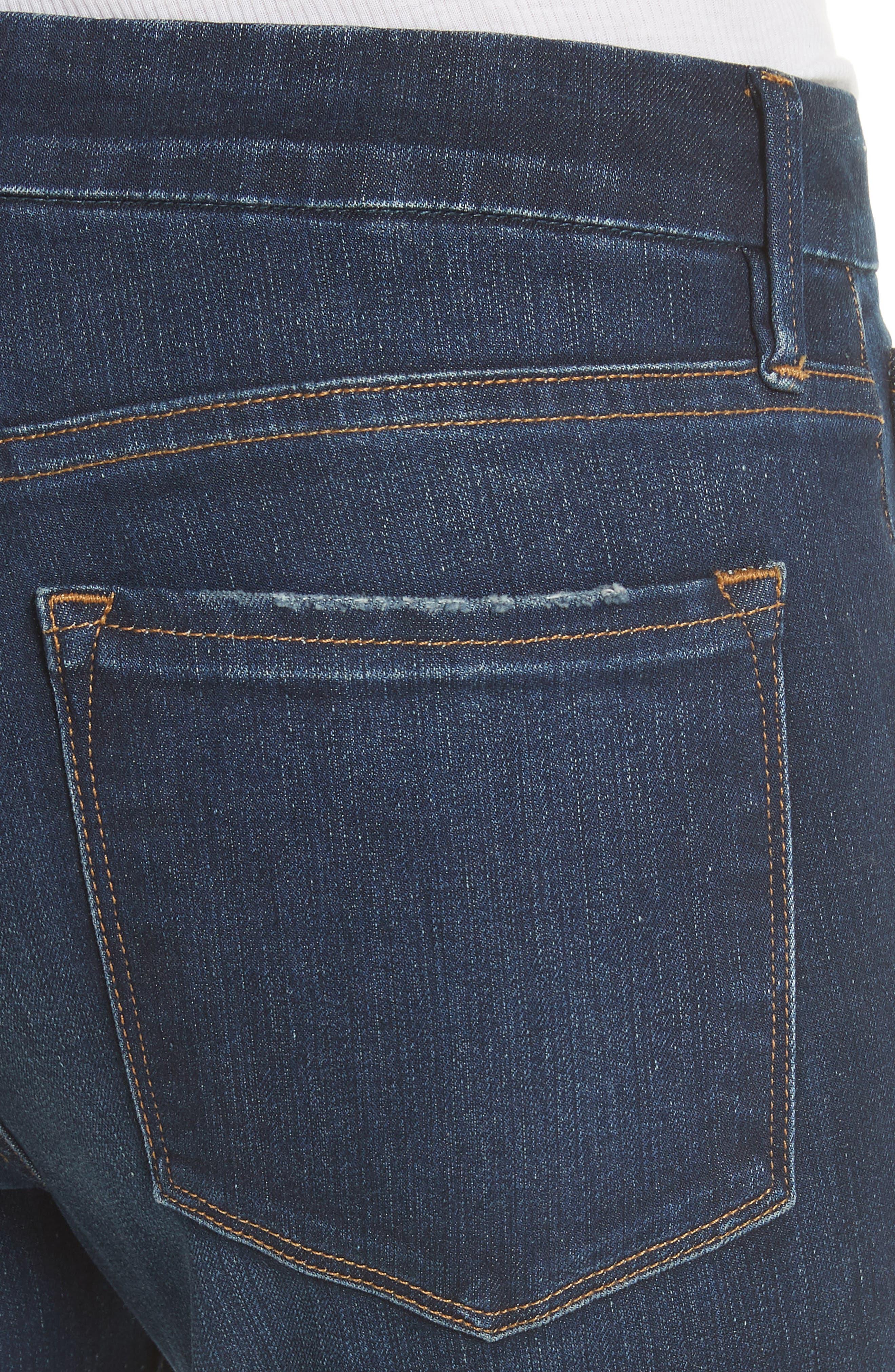 Le Crop Mini Boot Jeans,                             Alternate thumbnail 4, color,                             CREEK HILL