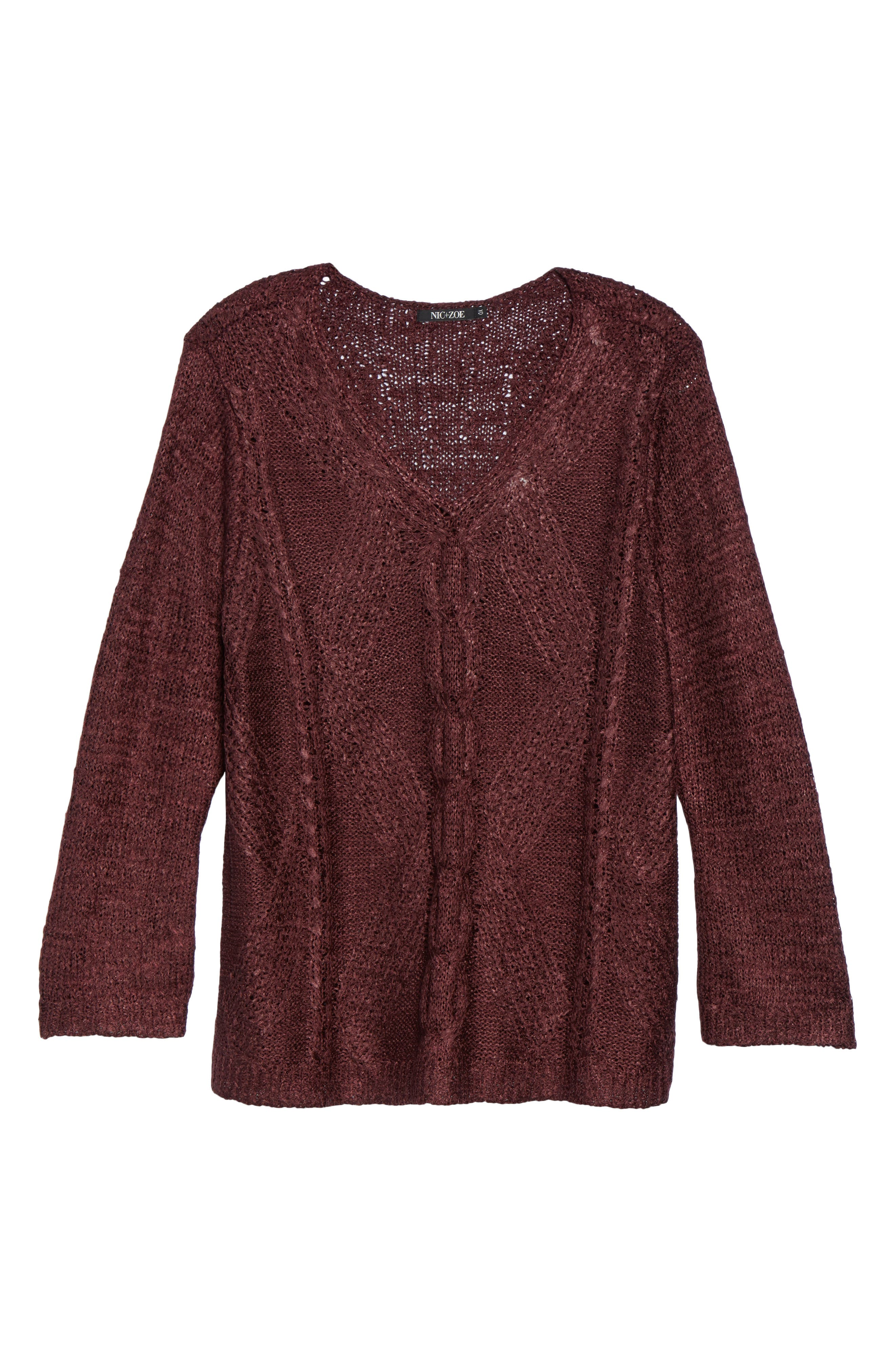 Cable Wave Sweater,                             Alternate thumbnail 12, color,