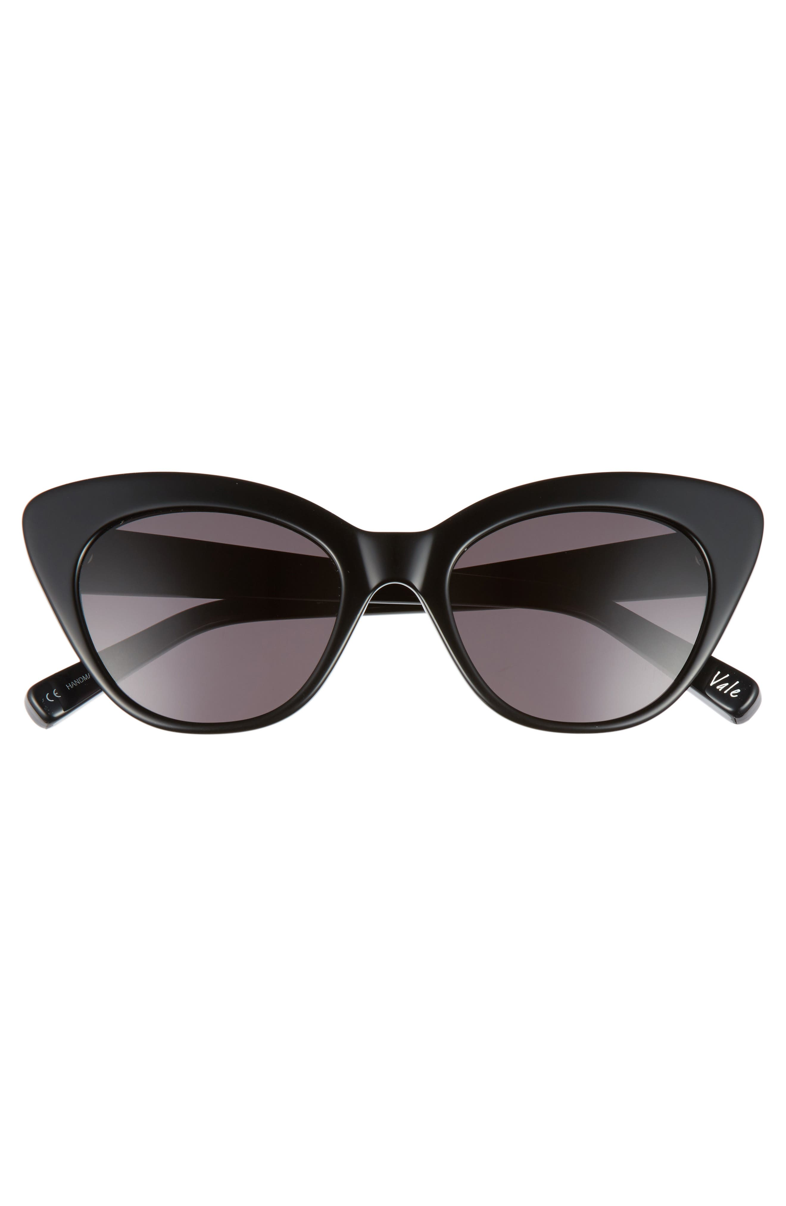 Vale 52mm Cat Eye Sunglasses,                             Alternate thumbnail 5, color,