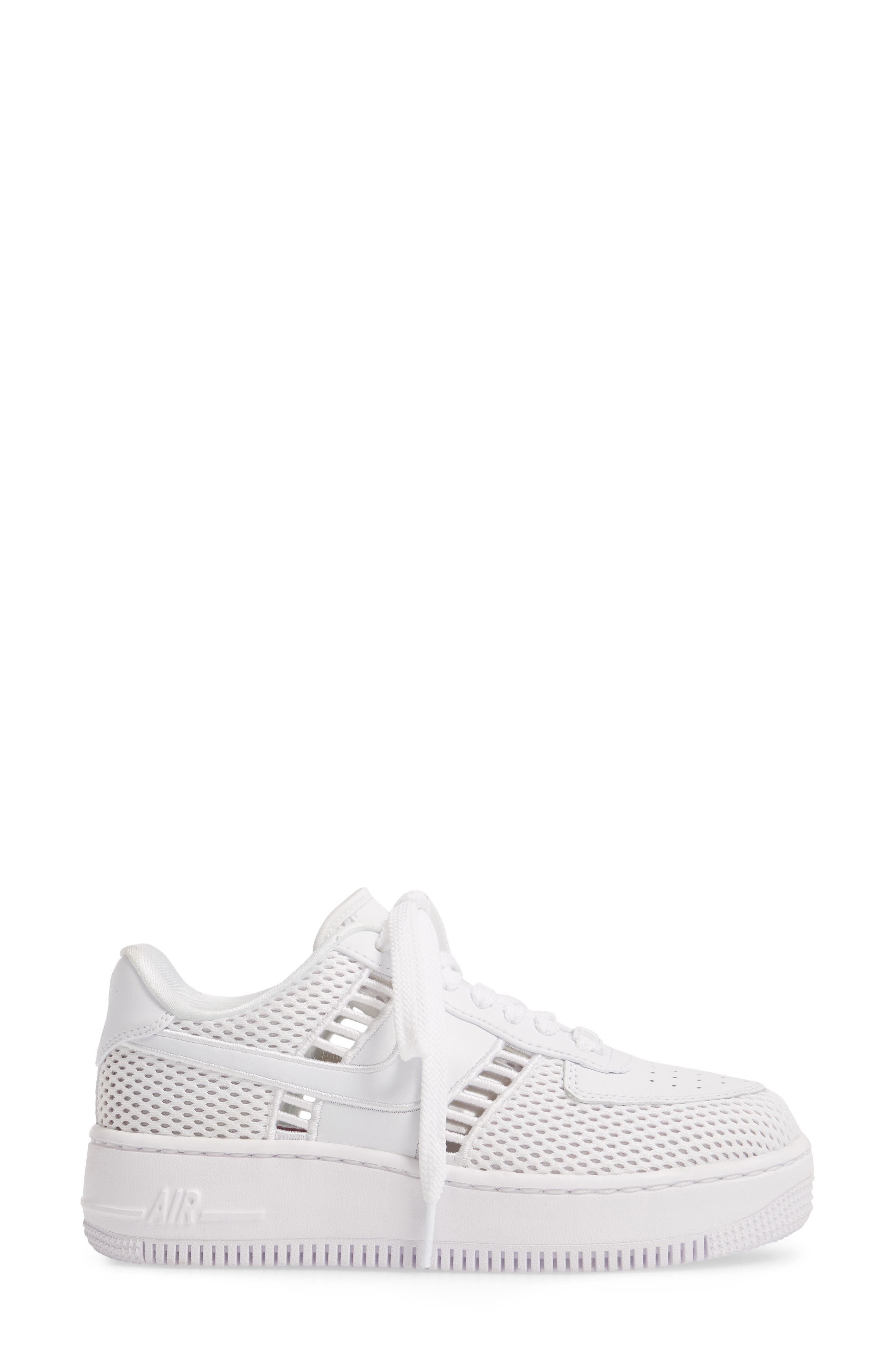 Air Force 1 Upstep SI Mesh Sneaker,                             Alternate thumbnail 3, color,                             100