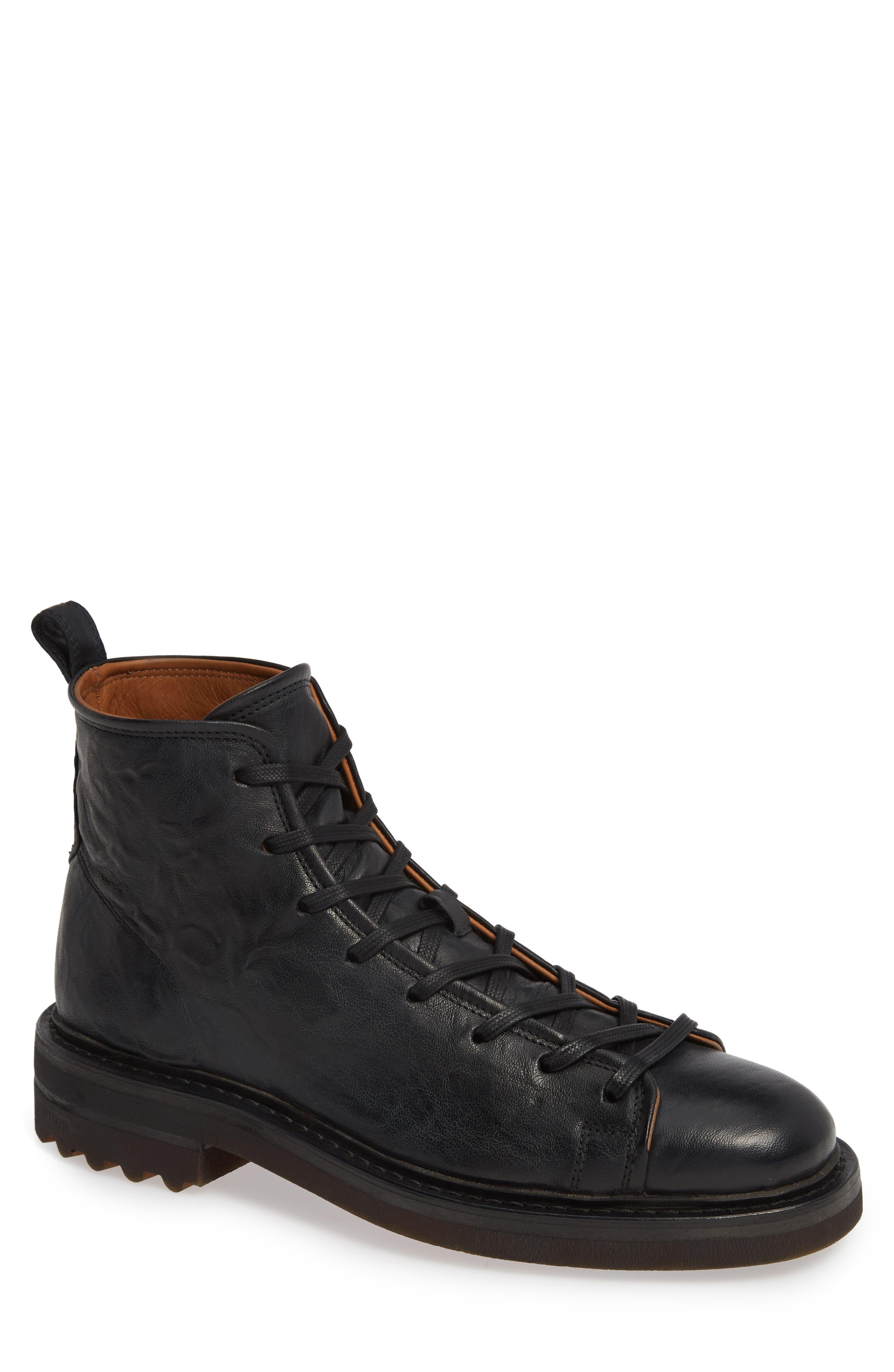 John Varvatos Collection Essex Plain Toe Boot, Black