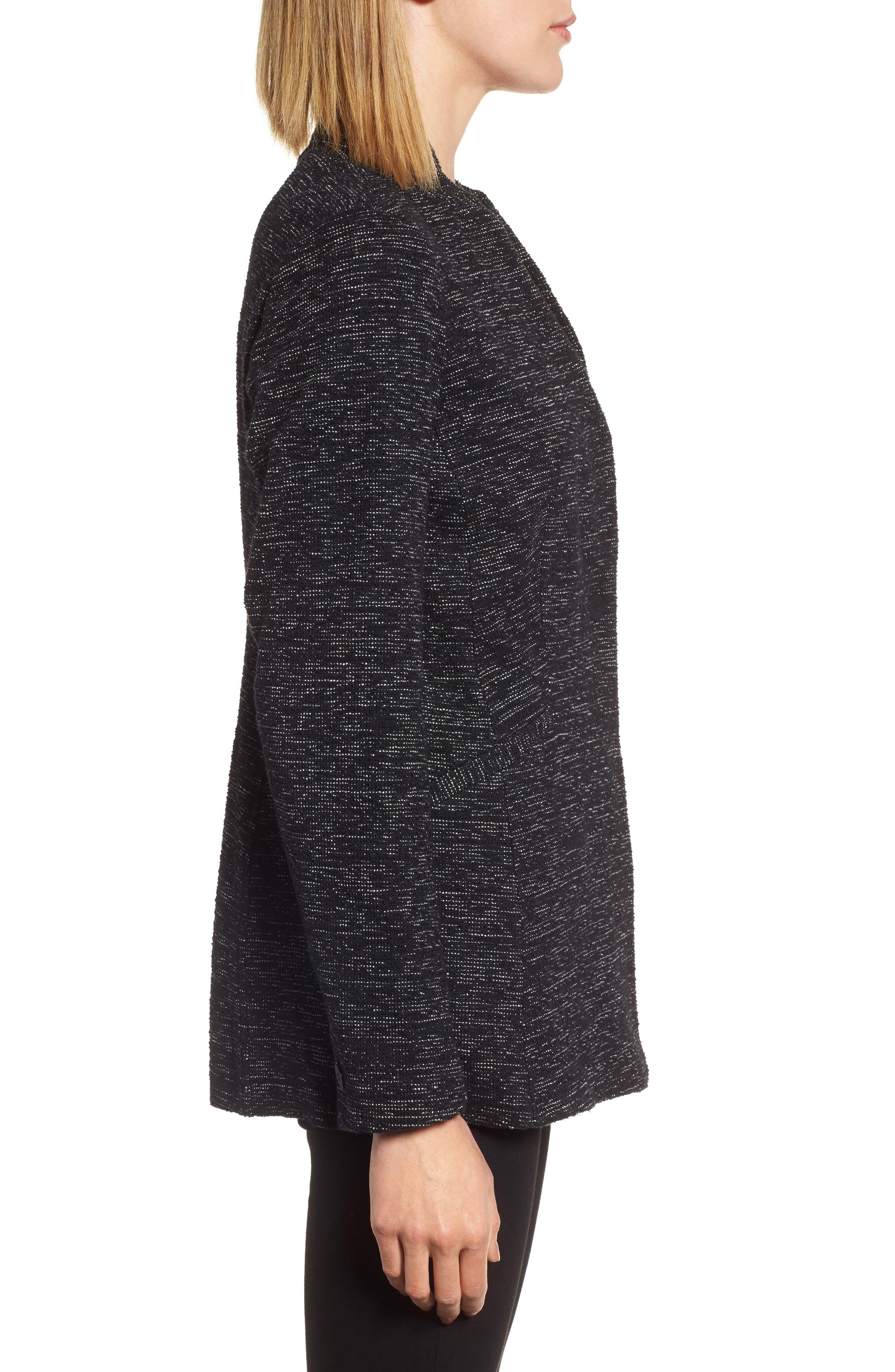Organic Cotton Blend Tweed Jacket,                             Alternate thumbnail 3, color,