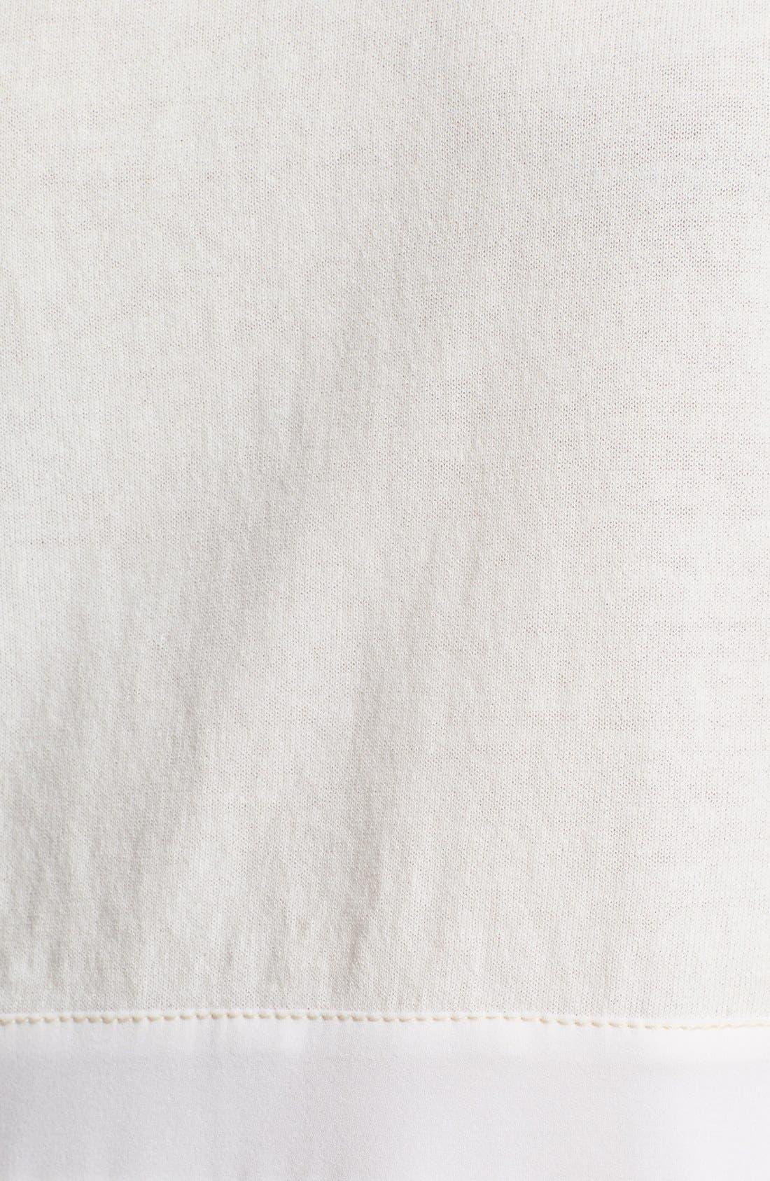 Silk Hem Cotton Tank,                             Alternate thumbnail 3, color,                             900