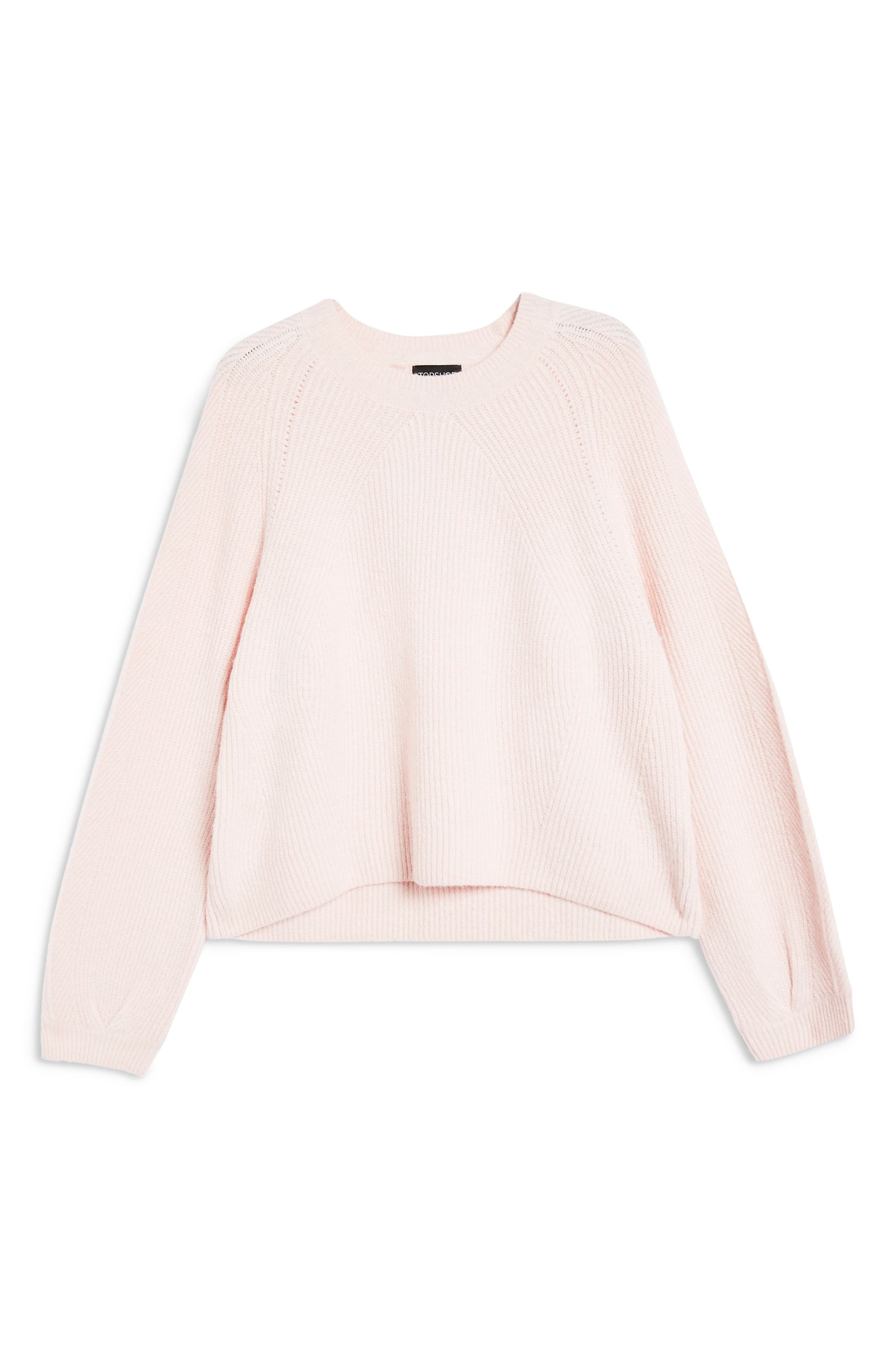 Modern Crewneck Sweater,                             Alternate thumbnail 3, color,                             PINK