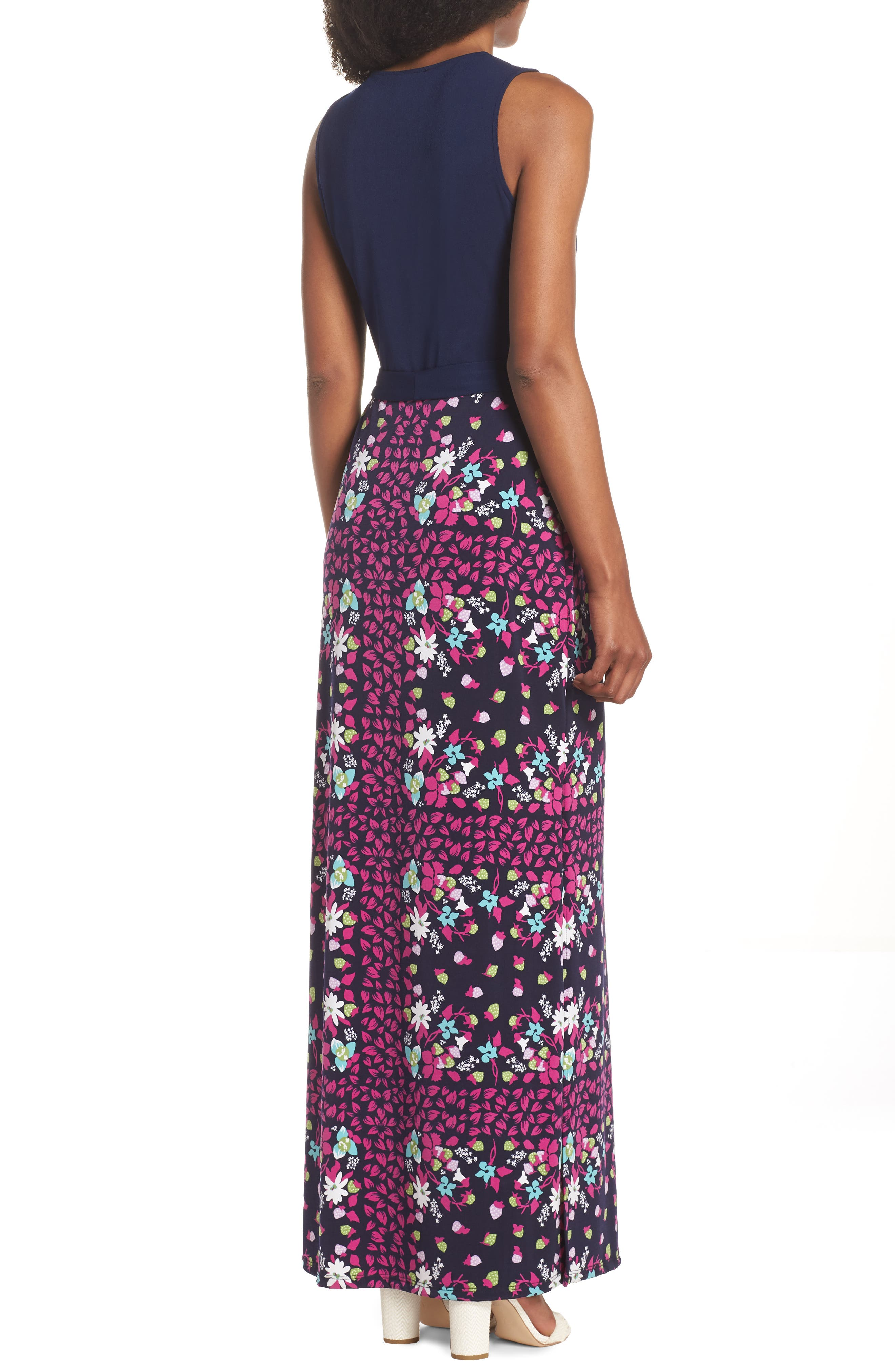 Perfect Faux Wrap Maxi Dress,                             Alternate thumbnail 2, color,                             GARDNER