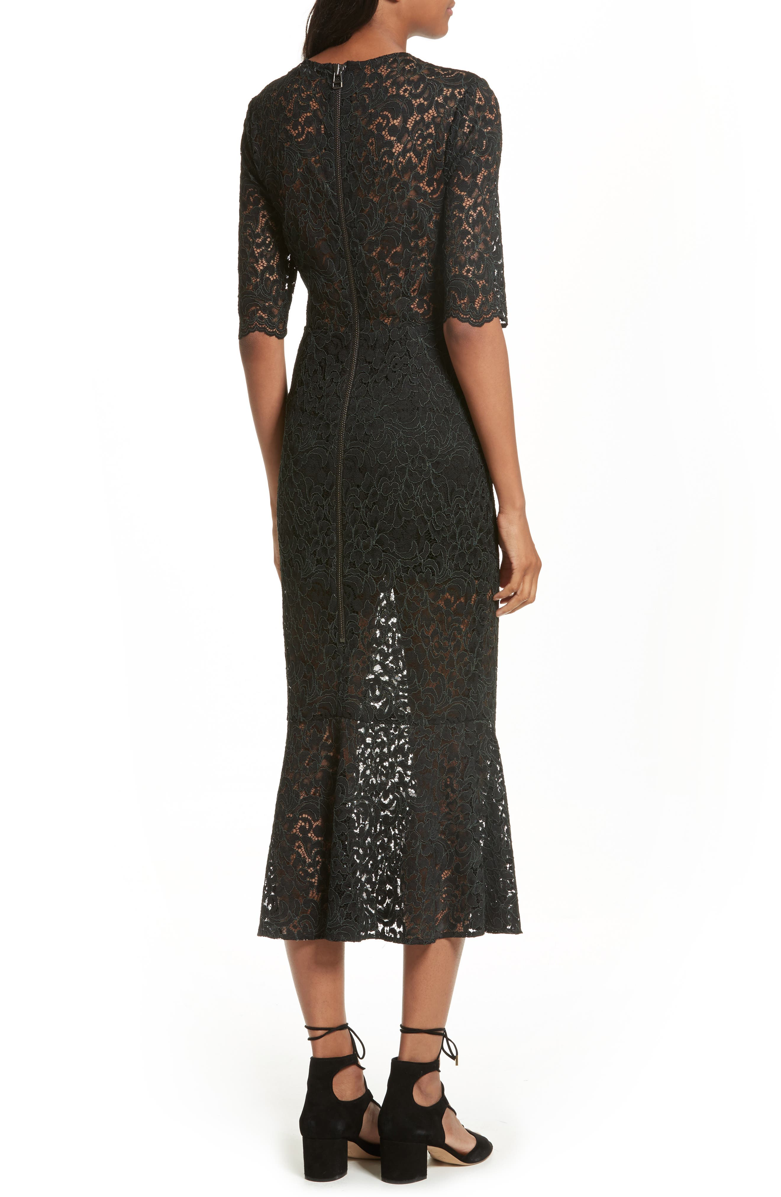 Linden Lace Midi Dress,                             Alternate thumbnail 2, color,