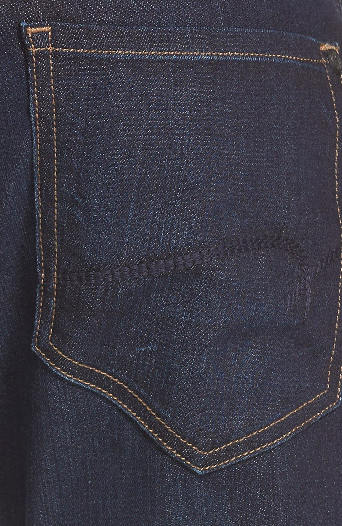 'Jake' Skinny Fit Jeans,                             Alternate thumbnail 6, color,                             RINSE BRUSHED WILLIAMSBURG