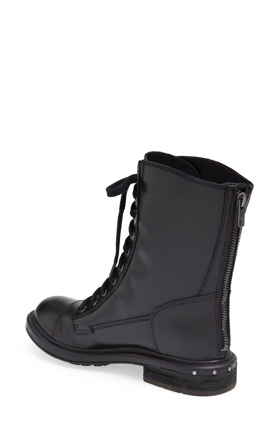 NAYA,                             'Renata' Hand Finished Leather Boot,                             Alternate thumbnail 3, color,                             001