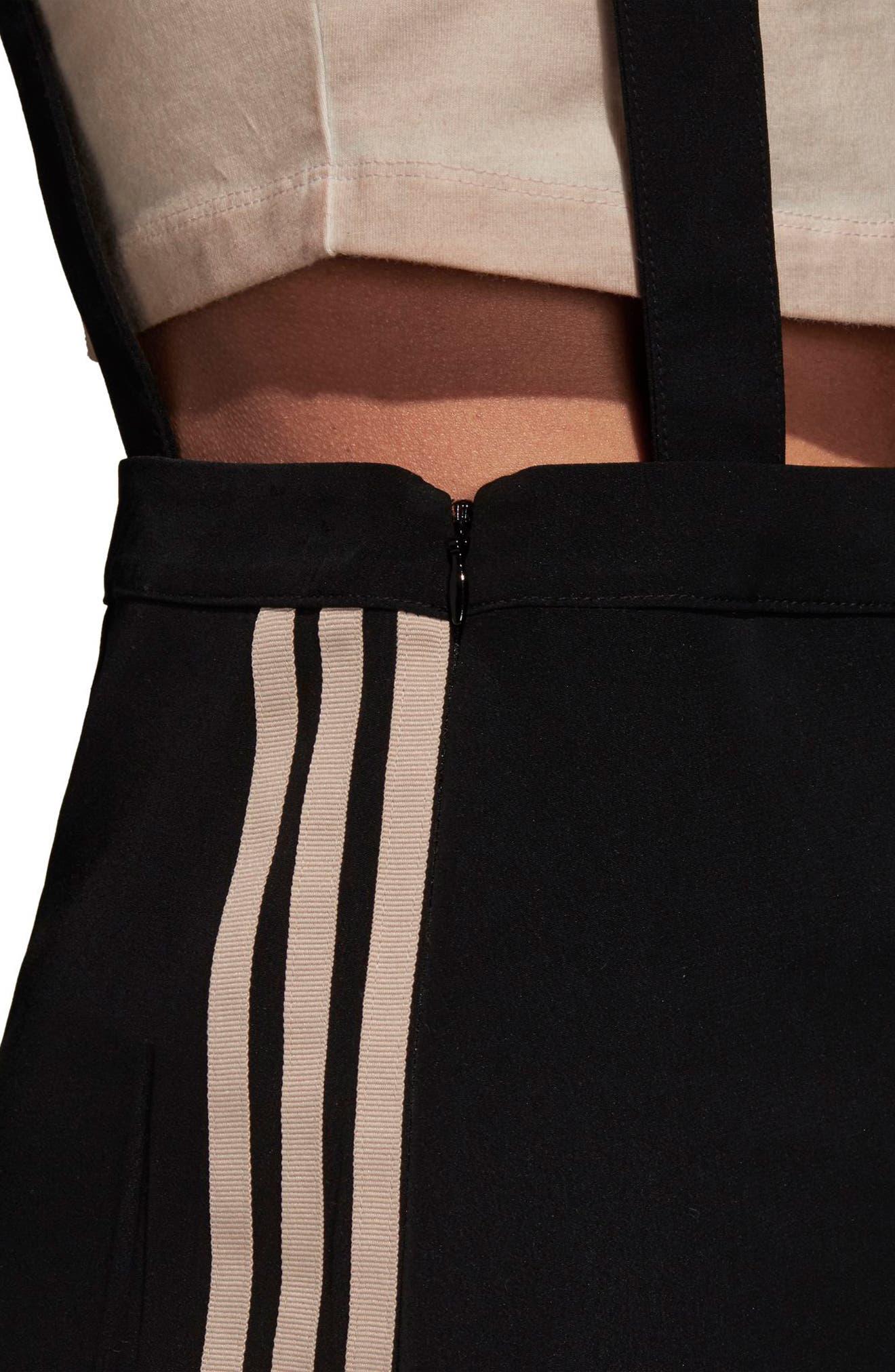 ADIDAS ORIGINALS,                             Midi Skirt with Shoulder Straps,                             Alternate thumbnail 4, color,                             001