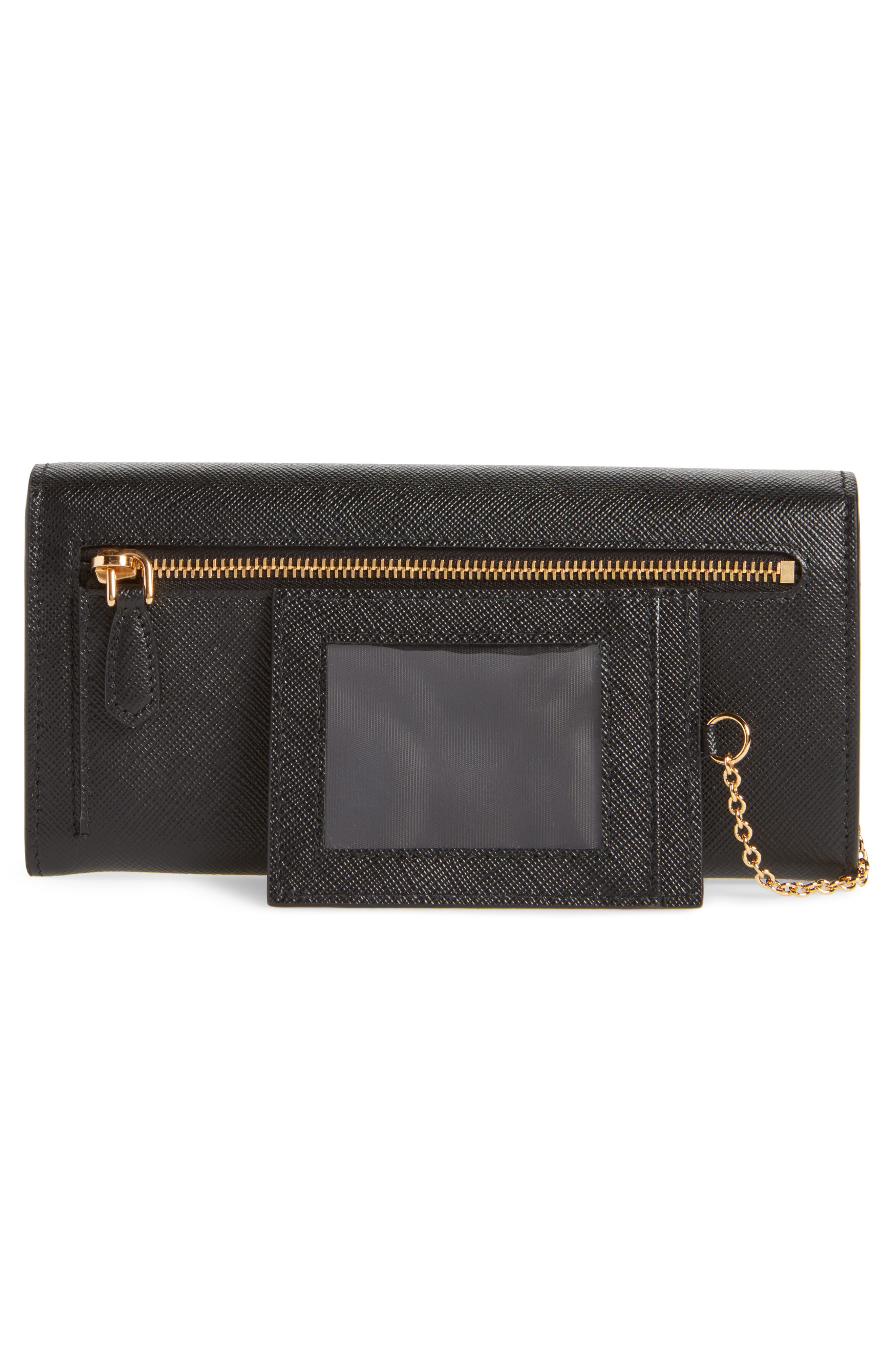 Monochrome Continental Wallet,                             Alternate thumbnail 3, color,                             NERO