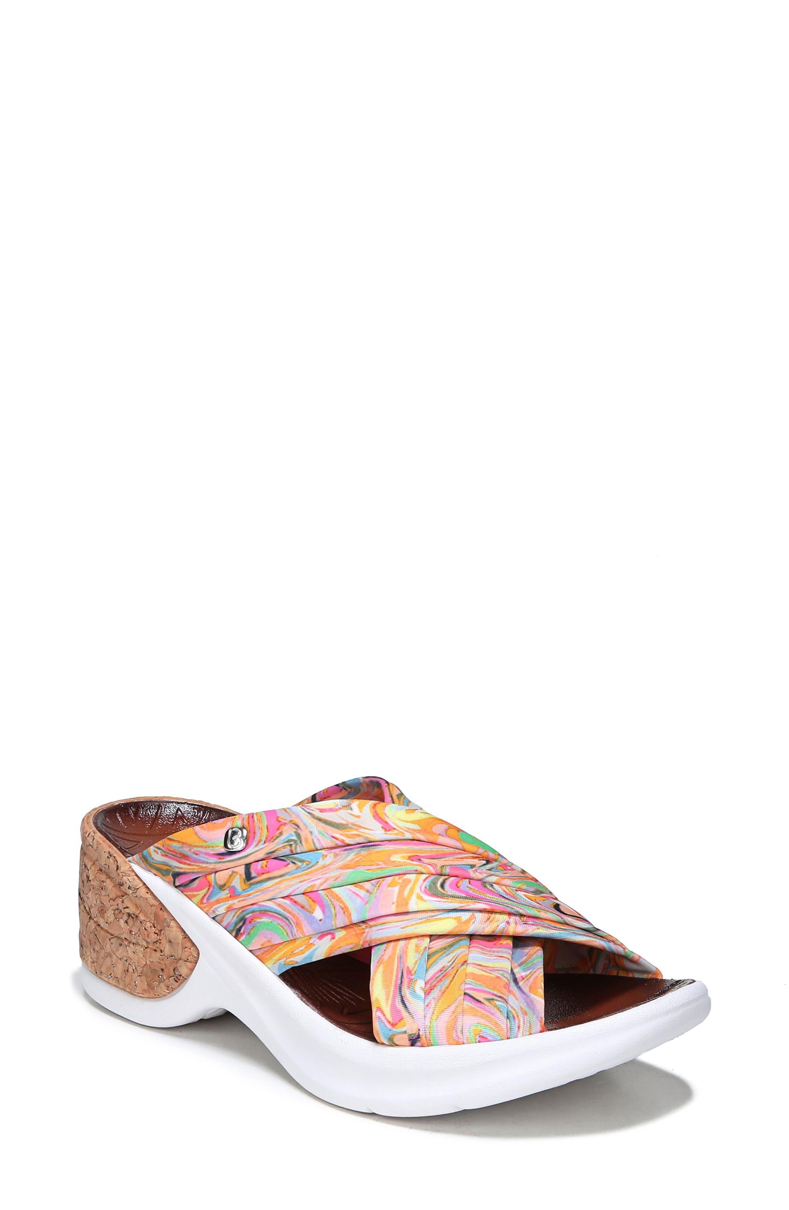 Knockout Slide Sandal,                         Main,                         color, MULTI FABRIC
