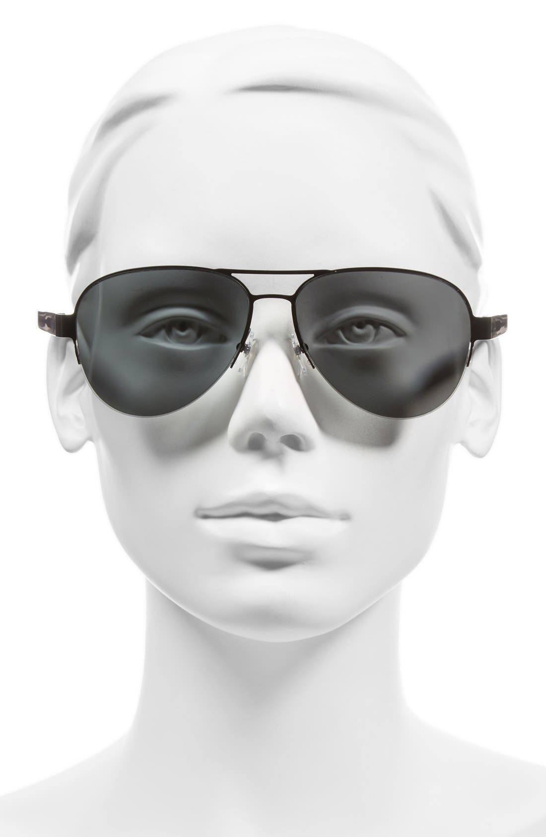 59mm Aviator Sunglasses,                             Alternate thumbnail 2, color,                             001