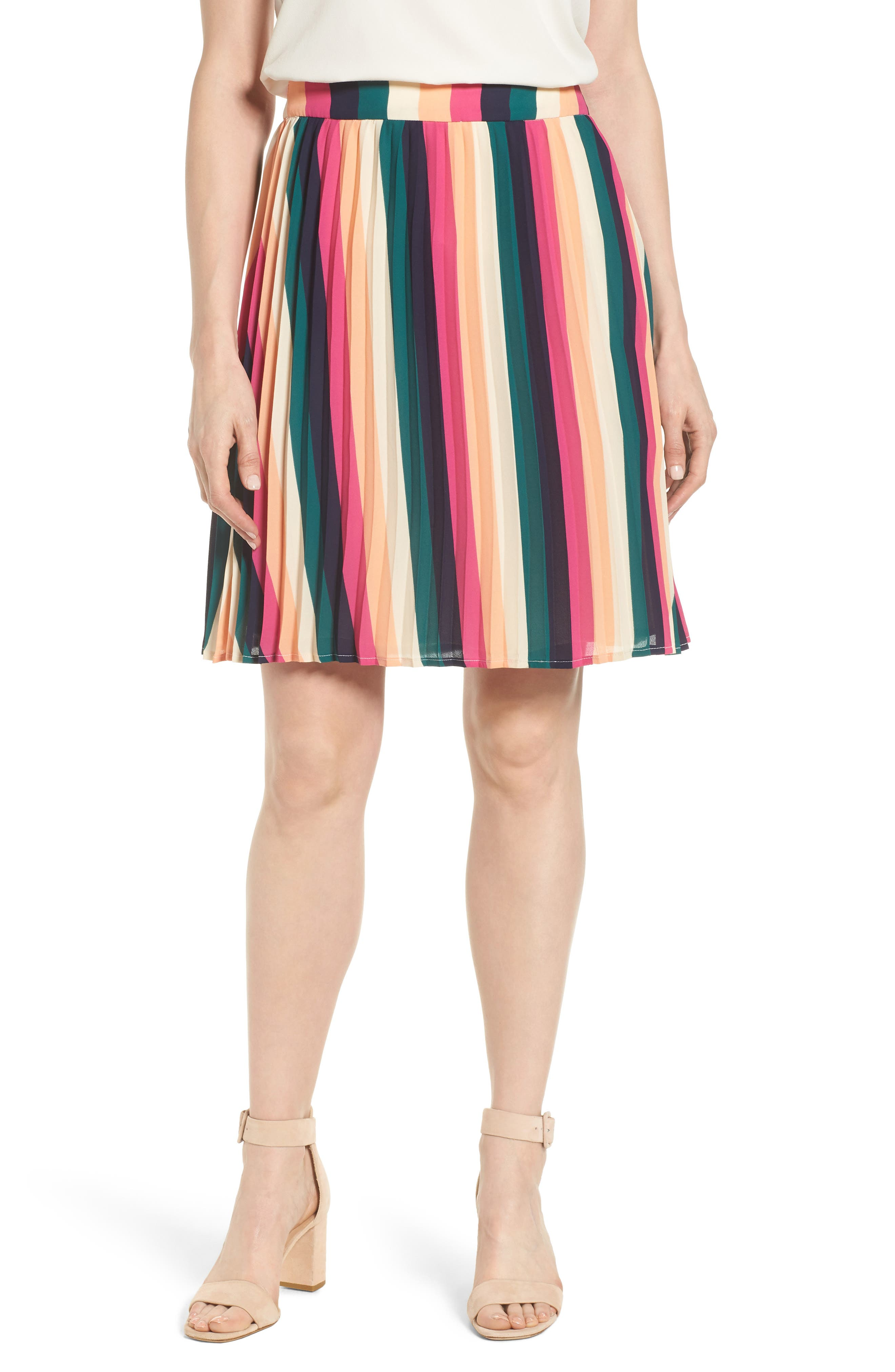 x Hi Sugarplum! Navio Pleat Skirt,                         Main,                         color, 007