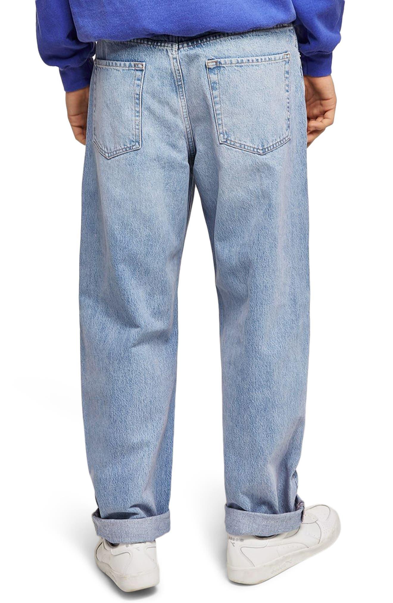 Baggy Fit Jeans,                             Alternate thumbnail 2, color,                             BLUE