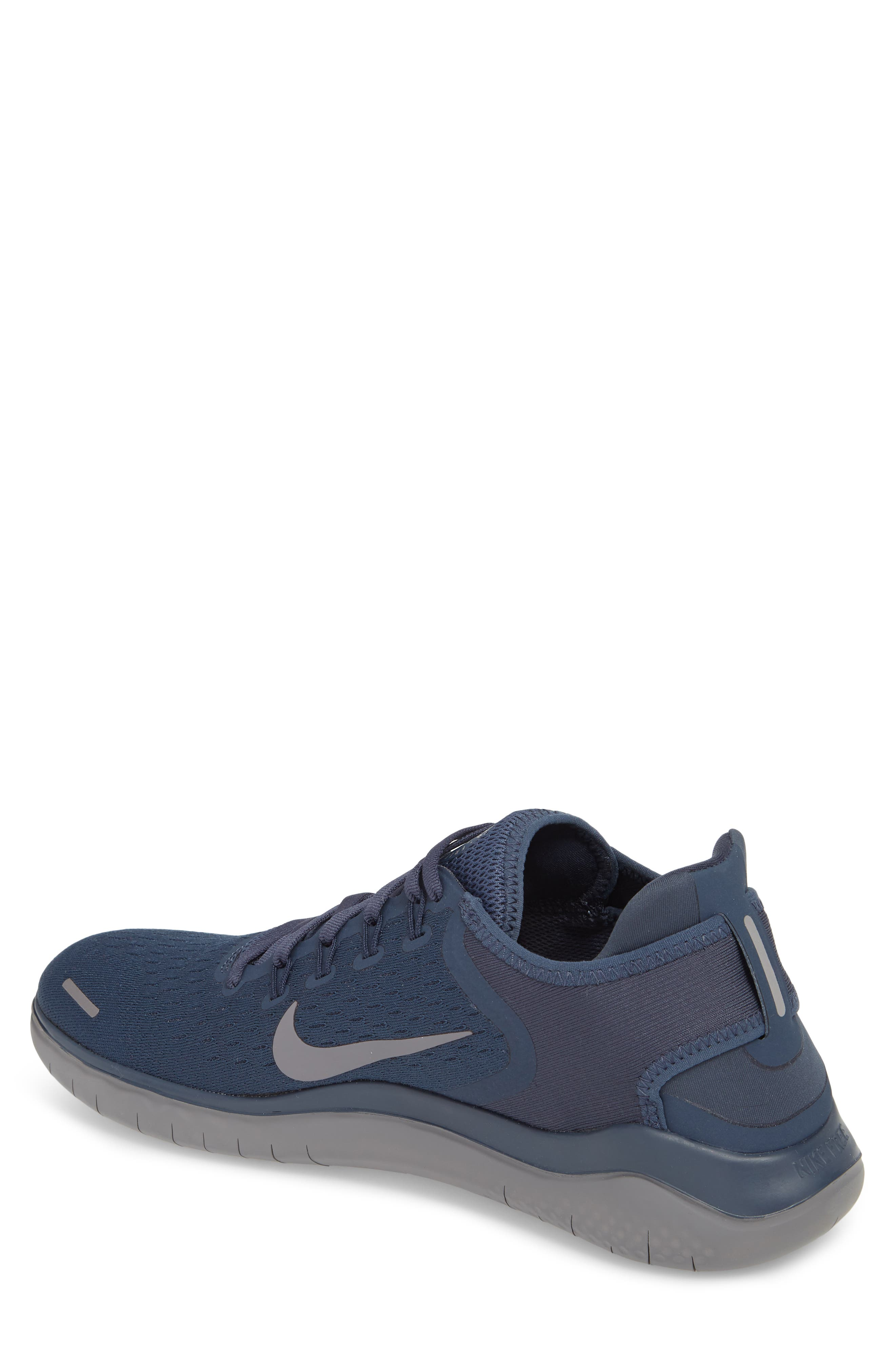 Free RN 2018 Running Shoe,                             Alternate thumbnail 2, color,                             THUNDER BLUE/ SMOKE