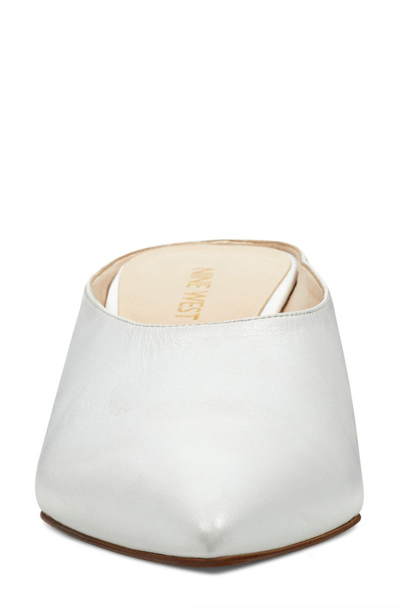 Helmer Mule,                             Alternate thumbnail 4, color,                             WHITE LEATHER