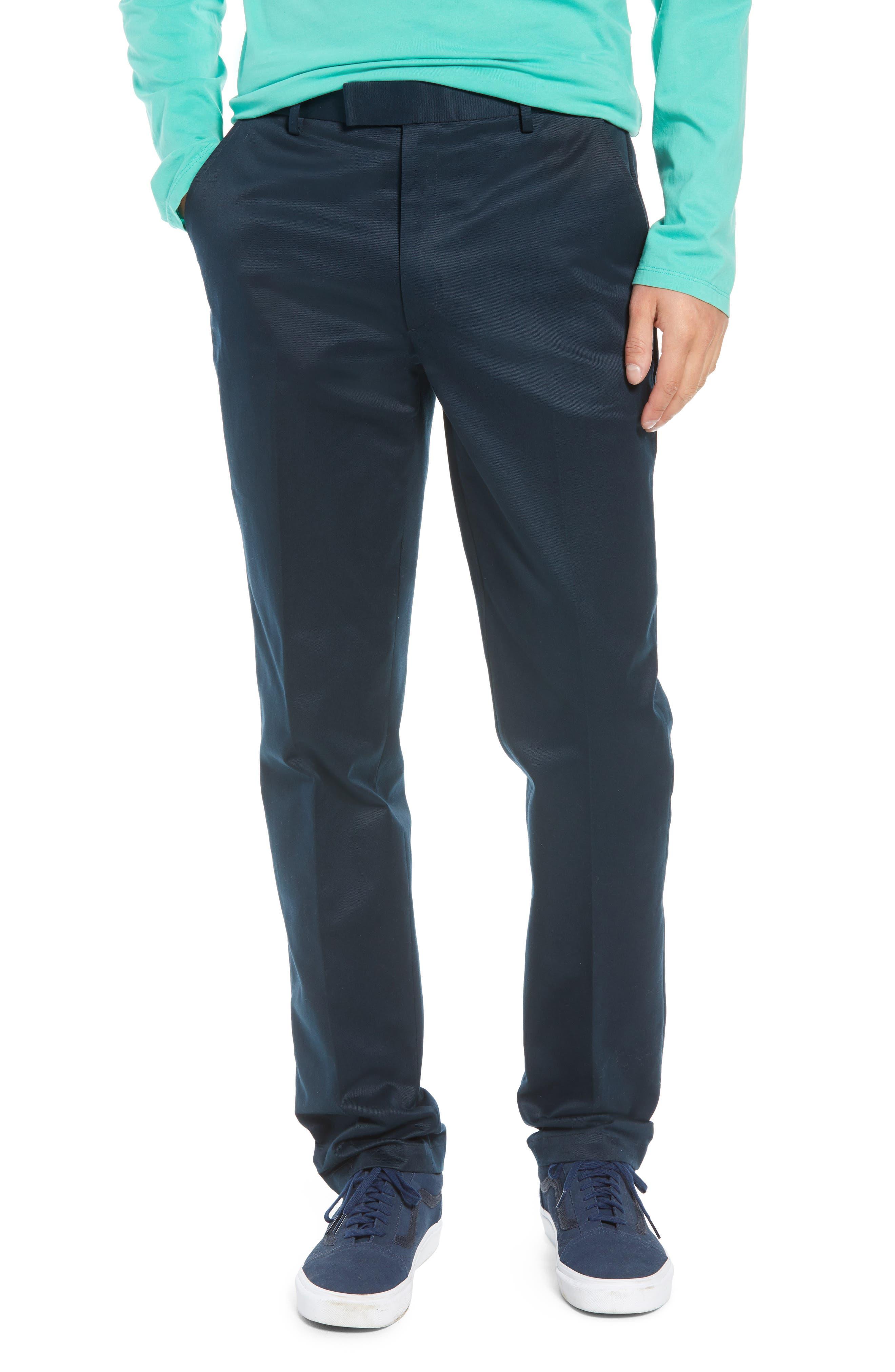 Leon Regular Fit Pants,                             Main thumbnail 1, color,                             MIDNIGHT